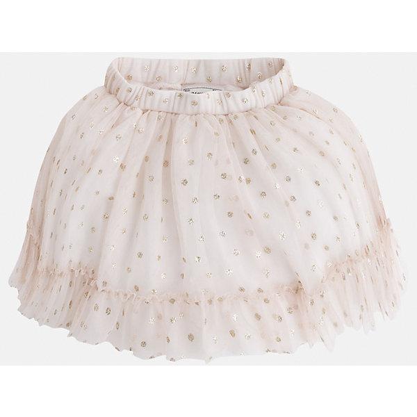 Юбка для девочки MayoralЮбки<br>Модная пышная юбка на подкладке из натурального хлопка украшена блестками и оборкой. Модель с двойным слоем фатина дополнена удобной регулируемой эластичной резинкой на поясе. <br><br>Дополнительная информация: <br><br>- цвет: бежевый<br>- состав: полиэстер 100% ;подкладка хлопок 100%<br>- фактура материала: текстильный<br>- вид застежки: молния<br>- длина изделия: по спинке: 48 см<br>- длина юбки: миди<br>- тип посадки: средняя посадка<br>- тип карманов: без карманов<br>- уход за вещами: бережная стирка при 30 градусах<br>- рисунок: без рисунка<br>- назначение: праздничная<br>- сезон: круглогодичный<br>- пол: девочки<br>- страна бренда: Испания<br>- комплектация: юбка<br><br>Юбку для девочки торговой марки Mayoral можно купить в нашем интернет-магазине.<br>Ширина мм: 207; Глубина мм: 10; Высота мм: 189; Вес г: 183; Цвет: бежевый; Возраст от месяцев: 60; Возраст до месяцев: 72; Пол: Женский; Возраст: Детский; Размер: 116,134,122,128,110,104,98; SKU: 4844215;
