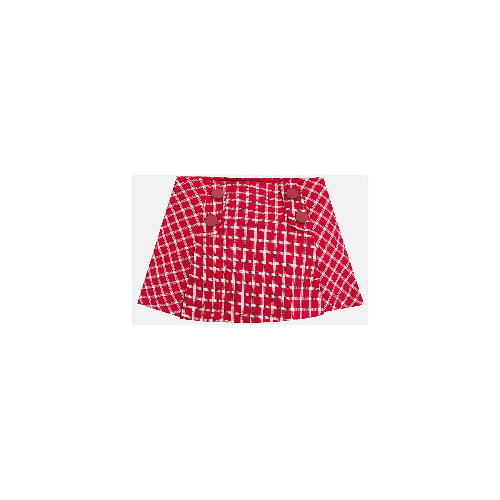 Юбка для девочки MayoralЮбка для девочки от испанского бренда Mayoral. Классическая клетчатая юбка прекрасно сочетается с кофточками и блузками. Модель изготовлена из качественных дышащих материалов. Юбка украшена декоративными пуговицами. Такая юбка прекрасно дополнит гардероб девочки.<br>Дополнительная информация:<br>-украшена декоративными пуговицами<br>-цвет: красный<br>-состав: 100% вискоза<br>Юбку Mayoral(Майорал) вы можете приобрести в нашем интернет-магазине.<br><br>Ширина мм: 207<br>Глубина мм: 10<br>Высота мм: 189<br>Вес г: 183<br>Цвет: красный<br>Возраст от месяцев: 96<br>Возраст до месяцев: 108<br>Пол: Женский<br>Возраст: Детский<br>Размер: 104,110,116,128,134,122,92,98<br>SKU: 4844264