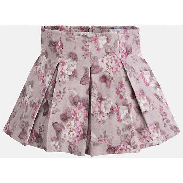 Юбка для девочки MayoralОдежда<br>Расклешенная юбка на кокетке торговой марки    Майорал -Mayoral, выполненная из приятной на ощупь ткани с добавлением вискозы, декорирована нежным цветочным принтом. Юбка дополнена потайной молнией и регулируемой размер резинкой на поясе. Модель дополнит и подчеркнет повседневный образ ребенка.<br><br>Дополнительная информация: <br><br>- цвет: бежевый<br>- состав: вискоза 68%; полиэстер 30% ;эластан 2%;<br>- фактура материала: текстильный<br>- вид застежки: молния<br>- длина изделия: по спинке: 48 см<br>- длина юбки: миди<br>- тип посадки: средняя посадка<br>- тип карманов: без карманов<br>- уход за вещами: бережная стирка при 30 градусах<br>- рисунок: без рисунка<br>- назначение: праздничная<br>- сезон: круглогодичный<br>- пол: девочки<br>- страна бренда: Испания<br>- комплектация: юбка<br><br>Юбку для девочки торговой марки Mayoral можно купить в нашем интернет-магазине.<br>Ширина мм: 207; Глубина мм: 10; Высота мм: 189; Вес г: 183; Цвет: серый; Возраст от месяцев: 48; Возраст до месяцев: 60; Пол: Женский; Возраст: Детский; Размер: 110,134,128,104,98,116,122; SKU: 4844281;