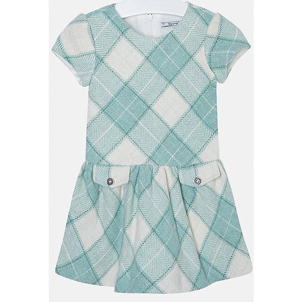 Платье для девочки MayoralПлатья и сарафаны<br>Платье для девочки от популярного испанского бренда Mayoral(Майорал). Платье застегивается на молнию сзади, есть 2 декоративных кармана спереди. Платье нежных цветов с простым дизайном - прекрасный выбор для юной леди.<br>Дополнительная информация:<br>-короткие рукава<br>-застегивается на молнию<br>-2 декоративных кармана<br>-цвет: изумрудный<br>-состав. 53% полиэстер, 23% шерсть, 22% полиамид, 2% металлическое волокно; подкладка: 50% хлопок, 50% полиэстер<br>Платье Mayoral(Майорал) вы можете приобрести в нашем интернет-магазине.<br><br>Ширина мм: 236<br>Глубина мм: 16<br>Высота мм: 184<br>Вес г: 177<br>Цвет: зеленый<br>Возраст от месяцев: 48<br>Возраст до месяцев: 60<br>Пол: Женский<br>Возраст: Детский<br>Размер: 110,134,122,116,104,98,128<br>SKU: 4844323