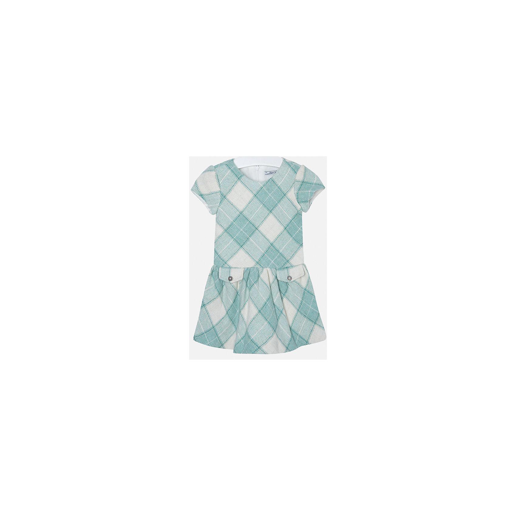 Платье для девочки MayoralПлатье для девочки от популярного испанского бренда Mayoral(Майорал). Платье застегивается на молнию сзади, есть 2 декоративных кармана спереди. Платье нежных цветов с простым дизайном - прекрасный выбор для юной леди.<br>Дополнительная информация:<br>-короткие рукава<br>-застегивается на молнию<br>-2 декоративных кармана<br>-цвет: изумрудный<br>-состав. 53% полиэстер, 23% шерсть, 22% полиамид, 2% металлическое волокно; подкладка: 50% хлопок, 50% полиэстер<br>Платье Mayoral(Майорал) вы можете приобрести в нашем интернет-магазине.<br><br>Ширина мм: 236<br>Глубина мм: 16<br>Высота мм: 184<br>Вес г: 177<br>Цвет: зеленый<br>Возраст от месяцев: 96<br>Возраст до месяцев: 108<br>Пол: Женский<br>Возраст: Детский<br>Размер: 128,134,98,104,110,116,122<br>SKU: 4844323