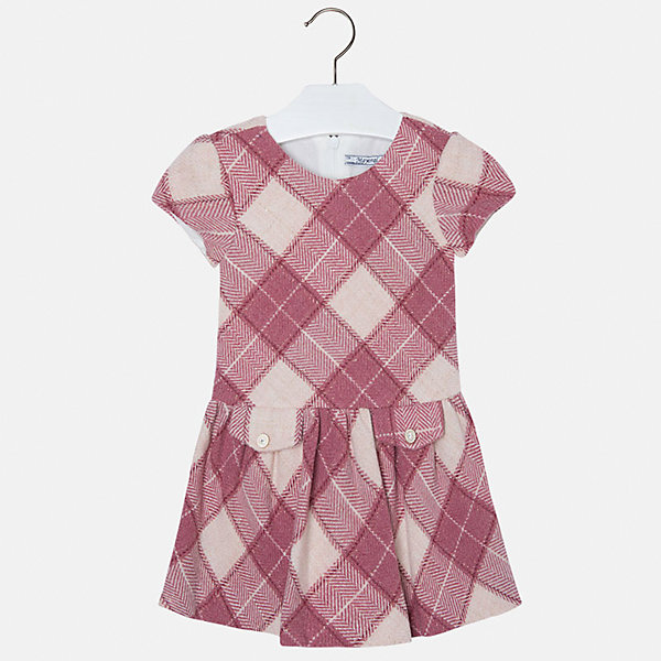 Платье для девочки MayoralОдежда<br>Платье для девочки от популярного испанского бренда Mayoral(Майорал). Платье застегивается на молнию сзади, есть 2 декоративных кармана спереди. Платье нежных цветов с простым дизайном - прекрасный выбор для юной леди.<br>Дополнительная информация:<br>-короткие рукава<br>-застегивается на молнию<br>-2 декоративных кармана<br>-цвет: красный<br>-состав. 53% полиэстер, 23% шерсть, 22% полиамид, 2% металлическое волокно; подкладка: 50% хлопок, 50% полиэстер<br>Платье Mayoral(Майорал) вы можете приобрести в нашем интернет-магазине.<br><br>Ширина мм: 236<br>Глубина мм: 16<br>Высота мм: 184<br>Вес г: 177<br>Цвет: розовый<br>Возраст от месяцев: 96<br>Возраст до месяцев: 108<br>Пол: Женский<br>Возраст: Детский<br>Размер: 134,110,116,122,128,104,98<br>SKU: 4844331