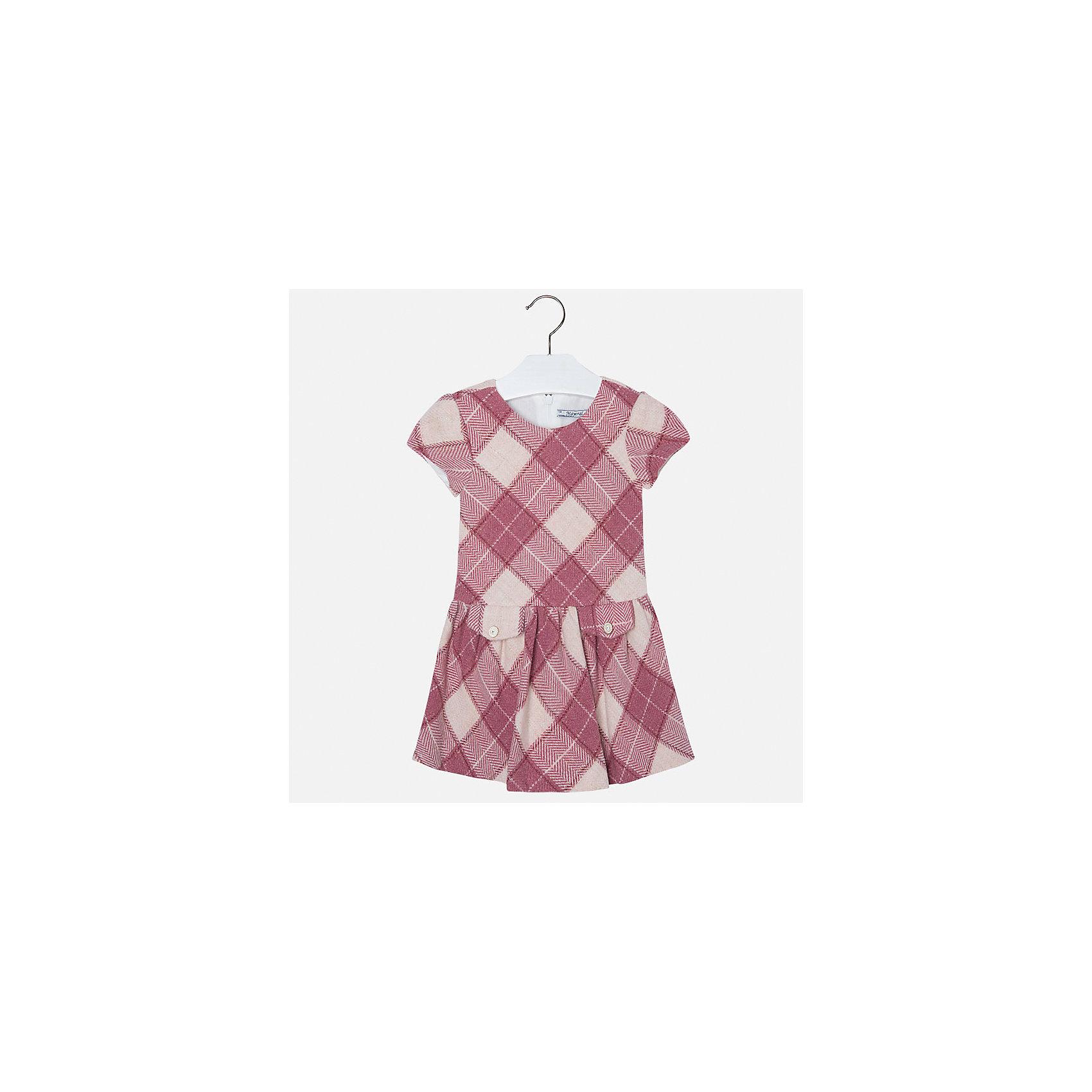 Платье для девочки MayoralПлатье для девочки от популярного испанского бренда Mayoral(Майорал). Платье застегивается на молнию сзади, есть 2 декоративных кармана спереди. Платье нежных цветов с простым дизайном - прекрасный выбор для юной леди.<br>Дополнительная информация:<br>-короткие рукава<br>-застегивается на молнию<br>-2 декоративных кармана<br>-цвет: красный<br>-состав. 53% полиэстер, 23% шерсть, 22% полиамид, 2% металлическое волокно; подкладка: 50% хлопок, 50% полиэстер<br>Платье Mayoral(Майорал) вы можете приобрести в нашем интернет-магазине.<br><br>Ширина мм: 236<br>Глубина мм: 16<br>Высота мм: 184<br>Вес г: 177<br>Цвет: розовый<br>Возраст от месяцев: 96<br>Возраст до месяцев: 108<br>Пол: Женский<br>Возраст: Детский<br>Размер: 134,110,98,104,128,122,116<br>SKU: 4844331