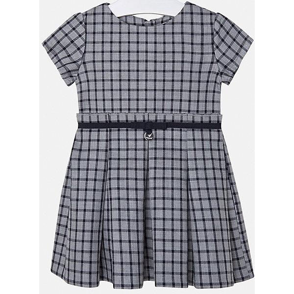 Платье для девочки MayoralПлатья и сарафаны<br>Платье для девочки от испанского бренда Mayoral(Майорал). Модель с коротким рукавом, приталенным силуэтом и поясом на талии. Классическое клетчатое платье - прекрасный вариант для важных мероприятий!<br>Дополнительная информация:<br>-короткие рукава, приталенный силуэт, пояс на талии<br>-цвет: серый<br>-состав. 100% вискоза; подкладка: 100% вискоза<br>Платье Mayoral(Майорал) вы можете купить в нашем интернет-магазине.<br>Ширина мм: 236; Глубина мм: 16; Высота мм: 184; Вес г: 177; Цвет: синий; Возраст от месяцев: 24; Возраст до месяцев: 36; Пол: Женский; Возраст: Детский; Размер: 98,116,128,110,122,134,104,92; SKU: 4844414;