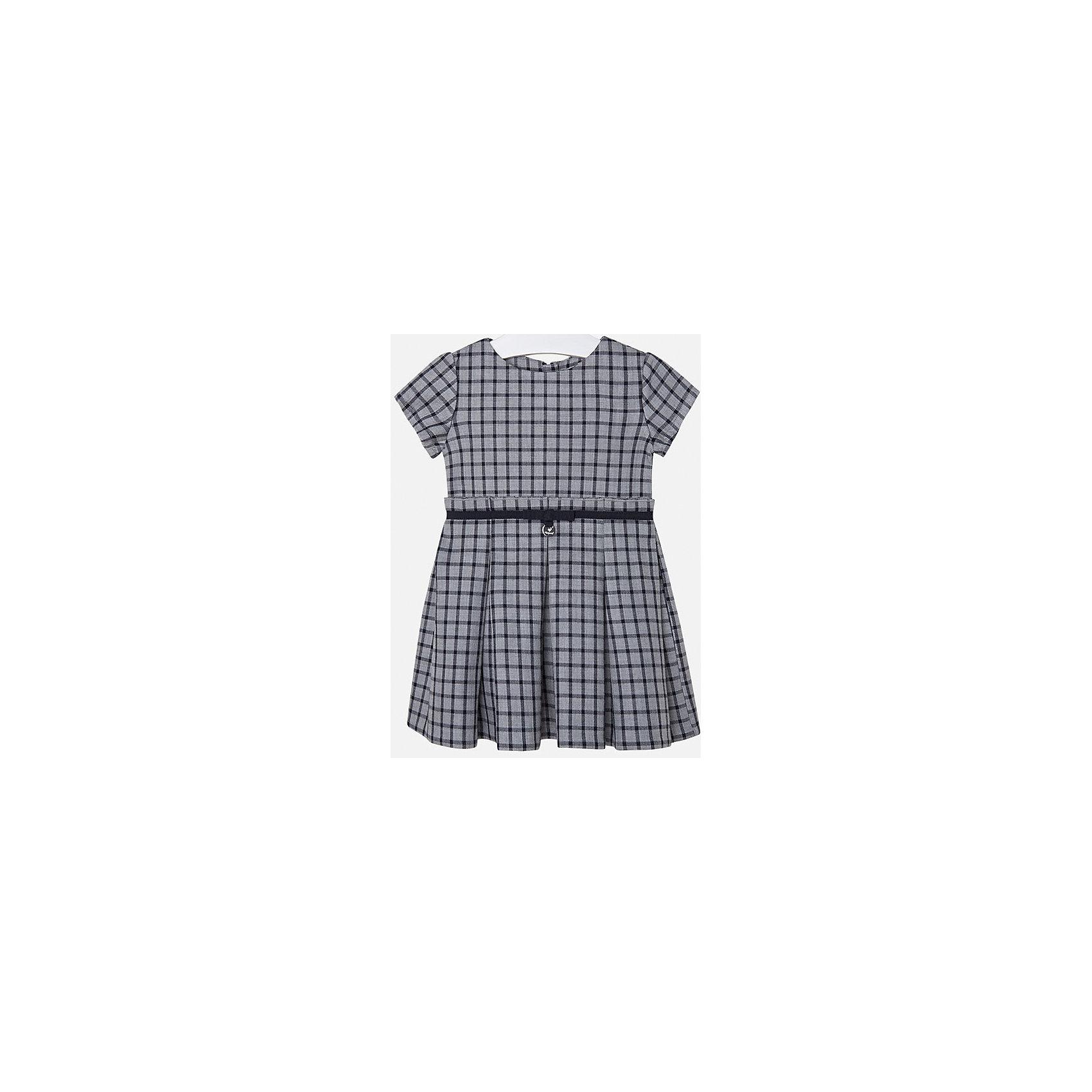 Платье для девочки MayoralОсенне-зимние платья и сарафаны<br>Платье для девочки от испанского бренда Mayoral(Майорал). Модель с коротким рукавом, приталенным силуэтом и поясом на талии. Классическое клетчатое платье - прекрасный вариант для важных мероприятий!<br>Дополнительная информация:<br>-короткие рукава, приталенный силуэт, пояс на талии<br>-цвет: серый<br>-состав. 100% вискоза; подкладка: 100% вискоза<br>Платье Mayoral(Майорал) вы можете купить в нашем интернет-магазине.<br><br>Ширина мм: 236<br>Глубина мм: 16<br>Высота мм: 184<br>Вес г: 177<br>Цвет: синий<br>Возраст от месяцев: 48<br>Возраст до месяцев: 60<br>Пол: Женский<br>Возраст: Детский<br>Размер: 110,122,134,104,92,98,116,128<br>SKU: 4844414
