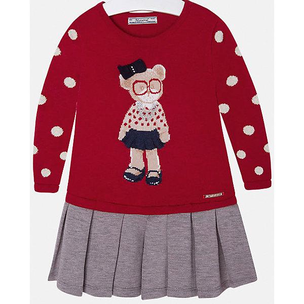 Платье для девочки MayoralПлатья и сарафаны<br>Платье для девочки от известного испанского бренда Mayoral(Майорал). Платье с длинным рукавом, украшено рисунком с медвежонком и стразами. Контрастная расцветка подчеркнет индивидуальность и стиль ребенка. Отличный выбор для маленькой модницы!<br>-длинные рукава<br>-украшено рисунком и стразами<br>-цвет: красный/серый<br>-состав. 57% хлопок, 22% полиамид, 13% полиэстер, 8% шерсть; подкладка: 65% полиэстер, 35% хлопок<br>Платье Mayoral(Майорал) можно приобрести в нашем интернет-магазине.<br><br>Ширина мм: 236<br>Глубина мм: 16<br>Высота мм: 184<br>Вес г: 177<br>Цвет: красный<br>Возраст от месяцев: 18<br>Возраст до месяцев: 24<br>Пол: Женский<br>Возраст: Детский<br>Размер: 92,122,128,104,98,134,110,116<br>SKU: 4844441