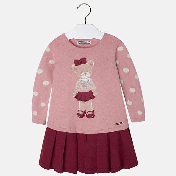Платье для девочки MayoralПлатья и сарафаны<br>Платье для девочки от известного испанского бренда Mayoral(майорал). Платье с длинным рукавом, украшено рисунком с медвежонком и стразами. Контрастная расцветка подчеркнет индивидуальность и стиль ребенка. Отличный выбор для маленькой модницы!<br>-длинные рукава<br>-украшено рисунком и стразами<br>-цвет: розовый/красный<br>-состав. 57% хлопок, 22% полиамид, 13% полиэстер, 8% шерсть; подкладка: 65% полиэстер, 35% хлопок<br>Платье Mayoral(Майорал) можно приобрести в нашем интернет-магазине.<br>Ширина мм: 236; Глубина мм: 16; Высота мм: 184; Вес г: 177; Цвет: розовый; Возраст от месяцев: 96; Возраст до месяцев: 108; Пол: Женский; Возраст: Детский; Размер: 134,104,128,110,98,116,92,122; SKU: 4844450;