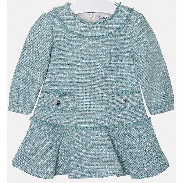 Платье для девочки MayoralПлатья и сарафаны<br>Платье для девочки от известного испанского бренда Mayoral(Майорал). Модель изготовлена из дышащих материалов высокого качества. Спереди платье украшено двумя декоративными карманами, застегивается на молнию сзади. Стильное гармоничное платье - прекрасный вариант на каждый день!<br>Дополнительная информация:<br>-застегивается на молнию сзади<br>-2 декоративных кармана спереди<br>-цвет: изумрудный<br>-состав. 32% акрил, 25% хлопок, 22% шерсть, 16% полиэстер, 5% металлическое волокно; подкладка: 50% хлопок, 50% полиэстер<br>Платье Mayoral(Майорал) вы можете приобрести в нашем интернет-магазине.<br><br>Ширина мм: 236<br>Глубина мм: 16<br>Высота мм: 184<br>Вес г: 177<br>Цвет: зеленый<br>Возраст от месяцев: 18<br>Возраст до месяцев: 24<br>Пол: Женский<br>Возраст: Детский<br>Размер: 92,128,104,98,122,110,134,116<br>SKU: 4844459
