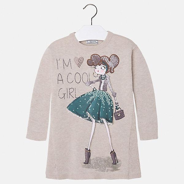 Платье для девочки MayoralПлатья и сарафаны<br>Платье для девочки от испанского бренда Mayoral(Майорал). Модель с длинным рукавом и крупной аппликацией спереди. Изготовлено из качественных материалов, приятных телу. Хорошо подойдет на каждый день!<br>Дополнительная информация:<br>-длинные рукава<br>-крупная аппликация со стразами<br>-цвет: бежевый<br>-состав: 50% хлопок, 50% акрил<br>Платье Mayoral(Майорал) можно купить в нашем интернет-магазине.<br><br>Ширина мм: 236<br>Глубина мм: 16<br>Высота мм: 184<br>Вес г: 177<br>Цвет: бежевый<br>Возраст от месяцев: 24<br>Возраст до месяцев: 36<br>Пол: Женский<br>Возраст: Детский<br>Размер: 98,92,134,116,128,110,104,122<br>SKU: 4844502