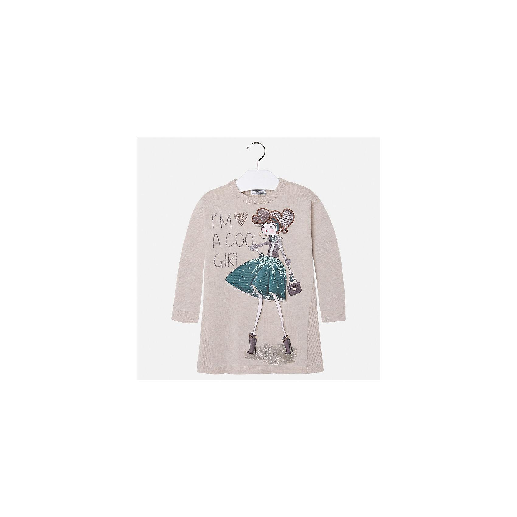 Платье для девочки MayoralОсенне-зимние платья и сарафаны<br>Платье для девочки от испанского бренда Mayoral(Майорал). Модель с длинным рукавом и крупной аппликацией спереди. Изготовлено из качественных материалов, приятных телу. Хорошо подойдет на каждый день!<br>Дополнительная информация:<br>-длинные рукава<br>-крупная аппликация со стразами<br>-цвет: бежевый<br>-состав: 50% хлопок, 50% акрил<br>Платье Mayoral(Майорал) можно купить в нашем интернет-магазине.<br><br>Ширина мм: 236<br>Глубина мм: 16<br>Высота мм: 184<br>Вес г: 177<br>Цвет: бежевый<br>Возраст от месяцев: 36<br>Возраст до месяцев: 48<br>Пол: Женский<br>Возраст: Детский<br>Размер: 104,92,122,98,110,128,116,134<br>SKU: 4844502