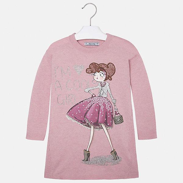 Платье для девочки MayoralПлатья и сарафаны<br>Платье для девочки от известного испанского бренда Mayoral (Майорал). Это модное и удобное платье с длинным рукавом сочетает в себе стиль и простоту. Приятный бледно-розовый цвет и яркий фото-принт украшенный стразами придут по вкусу вашей моднице. У платья свободный крой, слегка расширяющийся к низу. Отличное пополнение для сезона осень-зима. К этому платью подойдут как классические колготки, так и современные укороченные леггинсы.<br><br>Дополнительная информация:<br><br>- Силуэт: прямой<br>- Рукав: укороченный<br>- Длина: средняя<br><br>Состав: 50% хлопок, 50% акрил<br><br>Платье для девочки Mayoral (Майорал) можно купить в нашем интернет-магазине.<br><br>Подробнее:<br>• Для детей в возрасте: от 2 до 9 лет<br>• Номер товара: 4844511<br>Страна производитель: Индия<br><br>Ширина мм: 236<br>Глубина мм: 16<br>Высота мм: 184<br>Вес г: 177<br>Цвет: розовый<br>Возраст от месяцев: 18<br>Возраст до месяцев: 24<br>Пол: Женский<br>Возраст: Детский<br>Размер: 92,110,122,104,98,116,134,128<br>SKU: 4844511