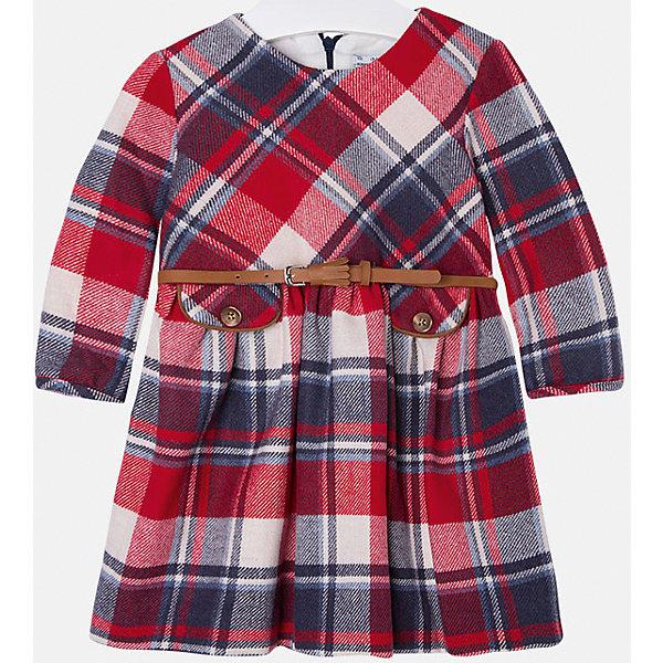 Платье для девочки MayoralОсенне-зимние платья и сарафаны<br>Платье для девочки от популярного испанского бренда Mayoral(Майорал). Модель с длинным рукавом и приталенным силуэтом. Спереди есть 2 декоративных кармана, ремень на талии. Такое очаровательное платье несомненно впишется в гардероб девочки!<br>Дополнительная информация:<br>-длинные рукава<br>-приталенный силуэт<br>-2 декоративных кармана и ремень на талии<br>-цвет: красный<br>-состав. 50% полиэстер, 25% шерсть, 25% акрил; подкладка: 50%, 50% полиэстер<br>Платье Mayoral(Майорал) вы можете приобрести в нашем интернет-магазине.<br><br>Ширина мм: 236<br>Глубина мм: 16<br>Высота мм: 184<br>Вес г: 177<br>Цвет: красный<br>Возраст от месяцев: 24<br>Возраст до месяцев: 36<br>Пол: Женский<br>Возраст: Детский<br>Размер: 98,134,110,116,128,92,104,122<br>SKU: 4844529