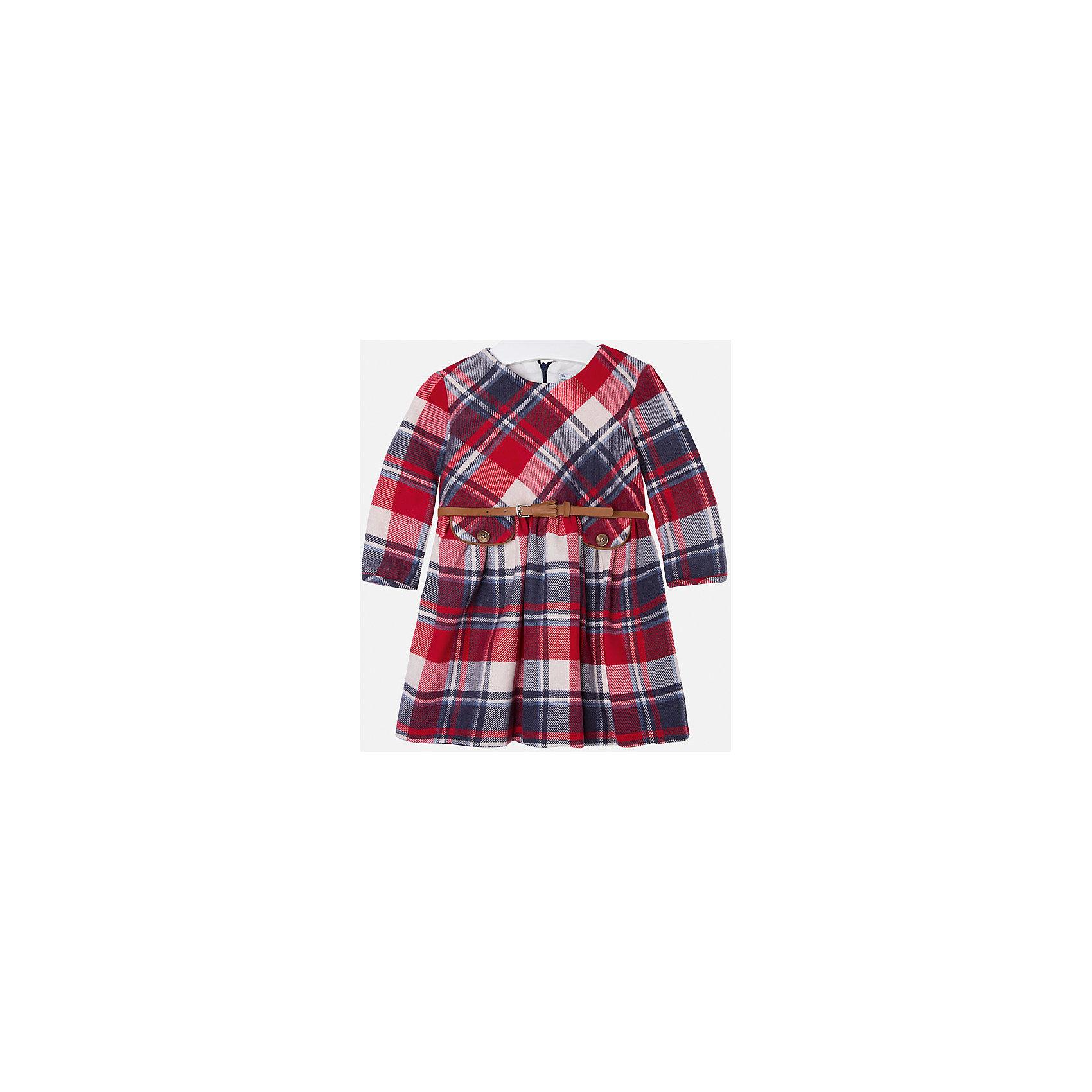 Платье для девочки MayoralПлатье для девочки от популярного испанского бренда Mayoral(Майорал). Модель с длинным рукавом и приталенным силуэтом. Спереди есть 2 декоративных кармана, ремень на талии. Такое очаровательное платье несомненно впишется в гардероб девочки!<br>Дополнительная информация:<br>-длинные рукава<br>-приталенный силуэт<br>-2 декоративных кармана и ремень на талии<br>-цвет: красный<br>-состав. 50% полиэстер, 25% шерсть, 25% акрил; подкладка: 50%, 50% полиэстер<br>Платье Mayoral(Майорал) вы можете приобрести в нашем интернет-магазине.<br><br>Ширина мм: 236<br>Глубина мм: 16<br>Высота мм: 184<br>Вес г: 177<br>Цвет: красный<br>Возраст от месяцев: 96<br>Возраст до месяцев: 108<br>Пол: Женский<br>Возраст: Детский<br>Размер: 134,110,116,128,92,98,104,122<br>SKU: 4844529