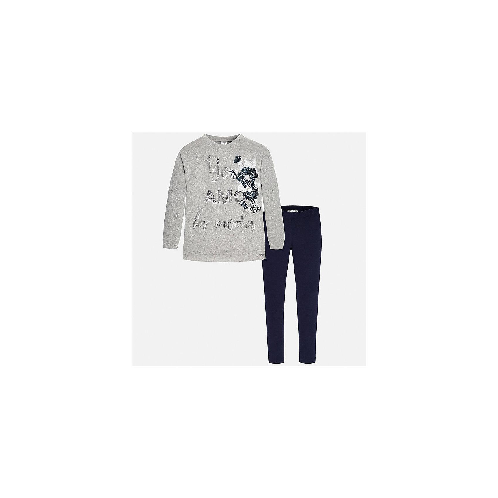 Mayoral Комлект для девочки: футболка и леггинсы Mayoral