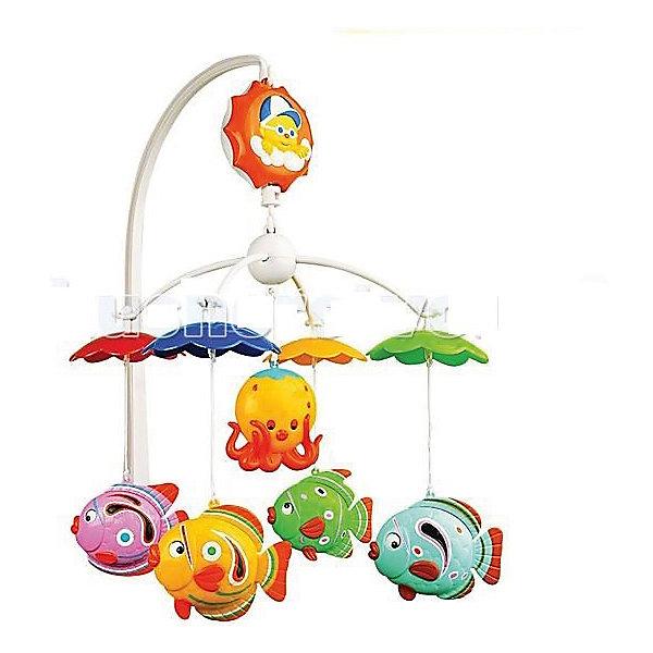 Музыкальная карусель (мобиль) с колыбельными, УмкаИгрушки для новорожденных<br>Музыкальная карусель (мобиль) с колыбельными, Умка<br><br>Характеристики:<br><br>• Цвет: мульти<br>• Количество мелодий: 9<br>• Возраст: от 0 месяцев<br>• Размер игрушки: 80 мм<br>• Материал: пластик<br>• Количество игрушек: 5<br><br>Мобиль с яркими животными сделан безопасного пластика ярких, привлекающих цветов. Девять успокаивающих мелодий помогут малышу обрести крепкий сон. Сама игрушка способствует развитию концентрации внимания, моторики рук и визуального восприятия. Крепление на кроватку – стойкой, очень надежное и гарантированно не упадет, даже вовремя активной игры.<br><br>Музыкальная карусель (мобиль) с колыбельными, Умка можно купить в нашем интернет-магазине.<br><br>Ширина мм: 35<br>Глубина мм: 27<br>Высота мм: 5<br>Вес г: 590<br>Возраст от месяцев: 0<br>Возраст до месяцев: 36<br>Пол: Унисекс<br>Возраст: Детский<br>SKU: 4845294