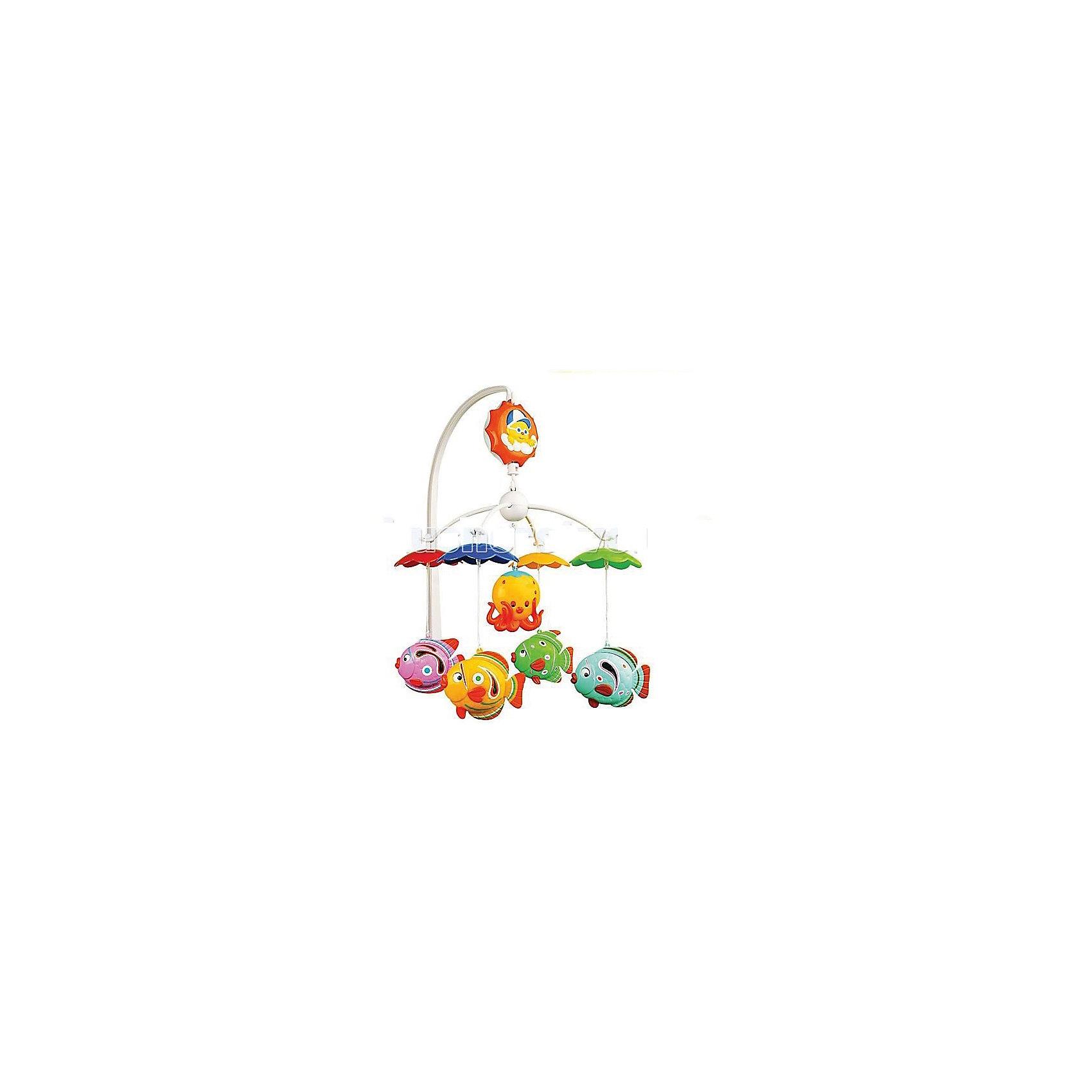 Музыкальная карусель (мобиль) с колыбельными, УмкаМобили<br>Музыкальная карусель (мобиль) с колыбельными, Умка<br><br>Характеристики:<br><br>• Цвет: мульти<br>• Количество мелодий: 9<br>• Возраст: от 0 месяцев<br>• Размер игрушки: 80 мм<br>• Материал: пластик<br>• Количество игрушек: 5<br><br>Мобиль с яркими животными сделан безопасного пластика ярких, привлекающих цветов. Девять успокаивающих мелодий помогут малышу обрести крепкий сон. Сама игрушка способствует развитию концентрации внимания, моторики рук и визуального восприятия. Крепление на кроватку – стойкой, очень надежное и гарантированно не упадет, даже вовремя активной игры.<br><br>Музыкальная карусель (мобиль) с колыбельными, Умка можно купить в нашем интернет-магазине.<br><br>Ширина мм: 35<br>Глубина мм: 27<br>Высота мм: 5<br>Вес г: 590<br>Возраст от месяцев: 0<br>Возраст до месяцев: 36<br>Пол: Унисекс<br>Возраст: Детский<br>SKU: 4845294