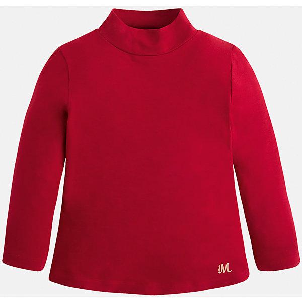 Водолазка для девочки MayoralВодолазки<br>Водолазка для девочки от известного испанского бренда Mayoral (Майорал). Эта стильная и удобная футболка с длинным рукавом и горловиной сочетает в себе стиль и простоту. Приятный алый цвет и золотая нашивка с логотипом бренда придут по вкусу вашей моднице. У футболки свободный крой, слегка расширяющийся к низу. Отличное пополнение для сезона осень-зима. К этой футболке подойдут как некоторые классические юбки и брюки, так и джинсы или штаны спортивного кроя. <br><br>Дополнительная информация:<br><br>- Силуэт: расширяющийся к низу<br>- Рукав: укороченный<br>- Длина: средняя<br><br>Состав: 95% вискоза, 5% эластан<br><br>Футболку для девочки Mayoral (Майорал) можно купить в нашем интернет-магазине.<br><br>Подробнее:<br>• Для детей в возрасте: от 4 до 9 лет<br>• Номер товара: 4845795<br>Страна производитель: Индия<br><br>Ширина мм: 199<br>Глубина мм: 10<br>Высота мм: 161<br>Вес г: 151<br>Цвет: красный<br>Возраст от месяцев: 24<br>Возраст до месяцев: 36<br>Пол: Женский<br>Возраст: Детский<br>Размер: 98,92,122,104,128,116,110,134<br>SKU: 4845795