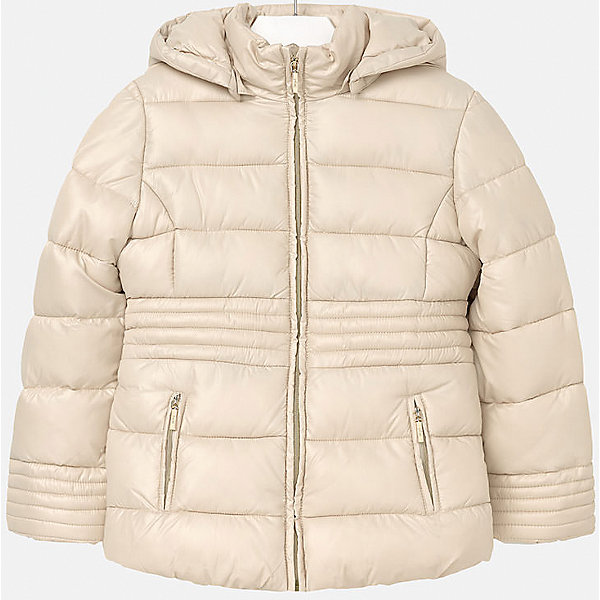 Куртка для девочки MayoralДемисезонные куртки<br>Куртка для девочки Mayoral отлично подойдет для холодной осени. Модель выполнена из высококачественной водоотталкивающей ткани, имеет воротник стойку надежно защищающий шею ребенка от холодного ветра, и отстегивающийся капюшон. Куртка дополнена двумя боковыми карманами на молнии и мягкую подкладку. Нейтральная расцветка позволяет модели сочетаться с любыми вещами в гардеробе. <br><br>Дополнительная информация:<br><br>- Температурный режим: от + 5? до - 5?.<br>- Сезон: демисезонная.<br>- Тип застежки: молния. <br>- Прочная водоотталкивающая ткань.<br>- Капюшон на кнопках (отстёгивается).<br>- Воротник-стойка. <br>- 2 боковых кармана на молнии. <br>Состав: <br>верх - 100% полиэстер; подкладка - 100% полиэстер; наполнитель - 100% полиэстер.<br><br>Куртка для девочки Mayoral (Майорал), бежевую, можно купить в нашем магазине.<br>Ширина мм: 356; Глубина мм: 10; Высота мм: 245; Вес г: 519; Цвет: желтый; Возраст от месяцев: 96; Возраст до месяцев: 108; Пол: Женский; Возраст: Детский; Размер: 146/152,158/164,134/140,164/170,152/158,128/134; SKU: 4845950;