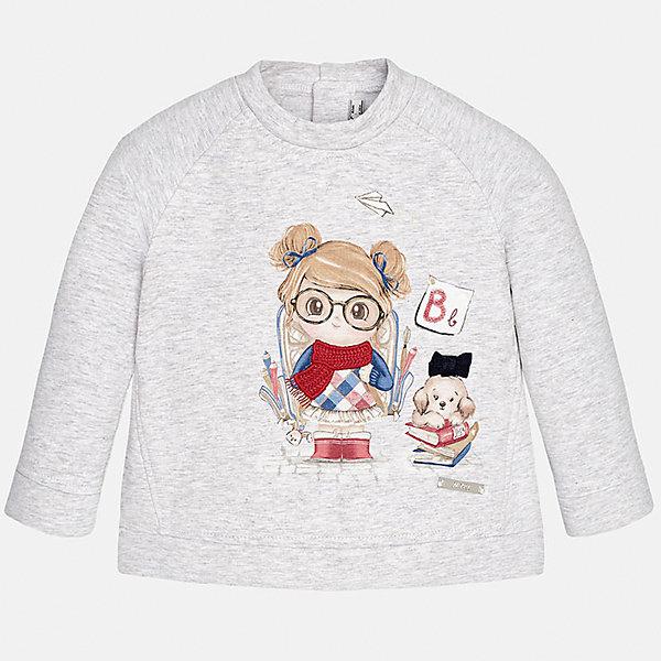 Толстовка для девочки MayoralТолстовки<br>Толстовка для девочки от известного испанского бренда Mayoral(Майорал)<br>Толстовка изготовлен из качественного хлопка, сзади застегивается на кнопки и украшен милым принтом с аппликацией. Этот свитер прекрасно впишется в гардероб девочки!<br><br>Дополнительная информация:<br>Состав: 95% хлопок, 5% эластан<br>Цвет: серый<br>Свитер для девочки Mayoral(Майорал) можно приобрести в нашем интернет-магазине.<br><br>Ширина мм: 190<br>Глубина мм: 74<br>Высота мм: 229<br>Вес г: 236<br>Цвет: белый<br>Возраст от месяцев: 12<br>Возраст до месяцев: 15<br>Пол: Женский<br>Возраст: Детский<br>Размер: 80,92,74,86<br>SKU: 4846084