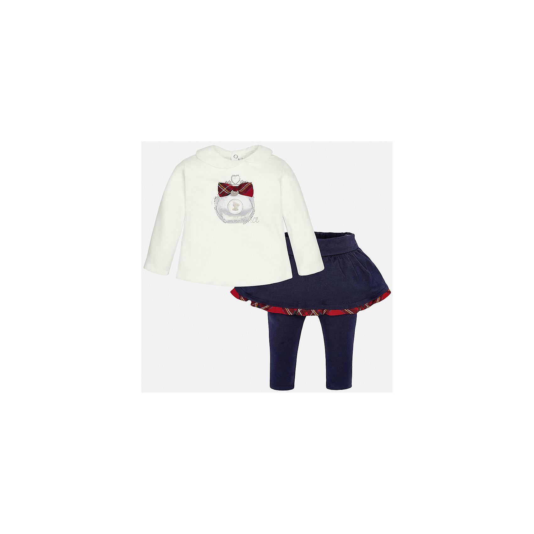 Mayoral Комплект:блузка и леггинсы для девочки Mayoral