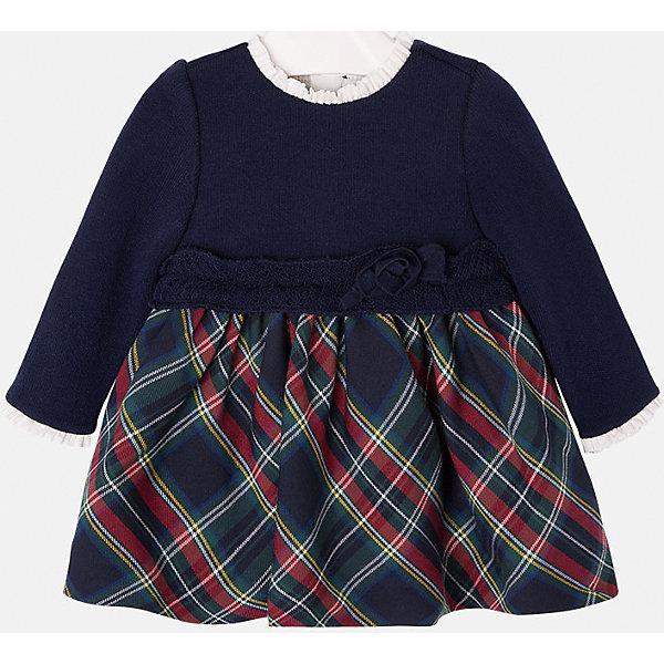 Платье для девочки MayoralПлатья<br>Платье для девочки от известной испанской марки Mayoral<br><br>Ширина мм: 236<br>Глубина мм: 16<br>Высота мм: 184<br>Вес г: 177<br>Цвет: синий<br>Возраст от месяцев: 6<br>Возраст до месяцев: 9<br>Пол: Женский<br>Возраст: Детский<br>Размер: 74,92,80,86<br>SKU: 4846323