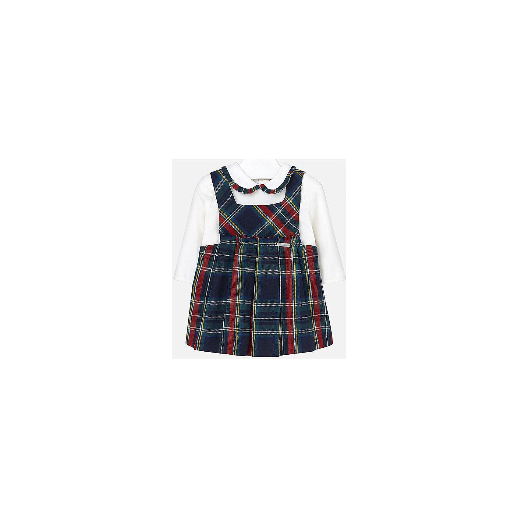 Mayoral Комплект для девочки: блузка и сарафан Mayoral