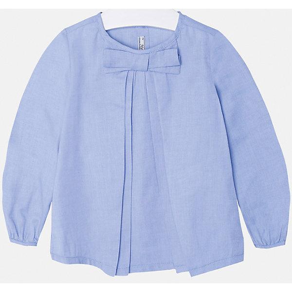 Блузка для девочки MayoralБлузки и рубашки<br>Блуза нежно-голубого цвета  торговой марки    Майорал -Mayoral. Блуза свободного  кроя, выполнена из чистого хлопка, и декорирована милым бантиком. На спинке по всей длине имеются пуговицы. Модель прекрасно дополнит  и подчеркнет ежедневный и школьный образ Вашей девочки.<br><br>Дополнительная информация:<br><br>- вид застежки: пуговицы<br>- длина рукава: длинные<br>- фактура материала: текстильный<br>- длина изделия: по спинке: 48 см<br>- покрой: прямой<br>- состав: 100% хлопок<br>- уход за вещами: бережная стирка при 30 градусах<br>- рисунок: без рисунка<br>- назначение: повседневная<br>- сезон: круглогодичный<br>- пол: девочки<br>- страна бренда: Испания<br>- страна производитель:  Марокко<br>- комплектация: блузка<br><br>Блуза для девочки  торговой марки    Майорал можно купить в нашем интернет магазине<br><br>Ширина мм: 186<br>Глубина мм: 87<br>Высота мм: 198<br>Вес г: 197<br>Цвет: синий<br>Возраст от месяцев: 72<br>Возраст до месяцев: 84<br>Пол: Женский<br>Возраст: Детский<br>Размер: 122,116,98,104,128,110,134<br>SKU: 4846563