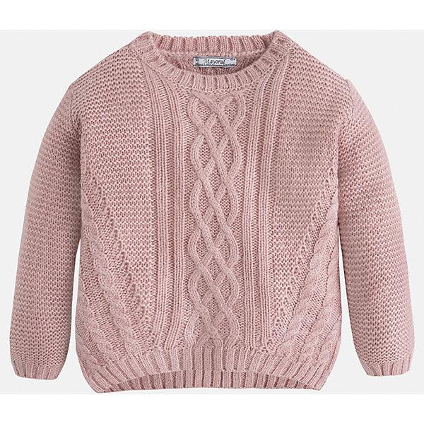 Свитер для девочки MayoralСвитера и кардиганы<br>Вязаный свитер  пудрового цвета торговой марки    Майорал -Mayoral для девочек.<br>Свитер выполнен из акрила. Изделие из  мягкого трикотажа с рукавами реглан, впереди украшено узором, будет прекрасно сочетаться с джинсами и брюками.<br><br>Дополнительная информация: <br><br>- цвет: нежно-розовый<br>- состав: акрил 100%<br>- фактура материала: текстильный<br>- тип карманов: без карманов<br>- уход за вещами: бережная стирка при 30 градусах<br>- рисунок: с рисунком<br>- назначение: повседневная<br>- сезон: круглогодичный<br>- пол: девочки<br>- страна бренда: Испания<br>- комплектация: свитер<br><br>Свитер для девочки торговой марки Mayoral можно купить в нашем интернет-магазине.<br>Ширина мм: 190; Глубина мм: 74; Высота мм: 229; Вес г: 236; Цвет: розовый; Возраст от месяцев: 72; Возраст до месяцев: 84; Пол: Женский; Возраст: Детский; Размер: 122,98,116,128,104,134,110; SKU: 4846603;