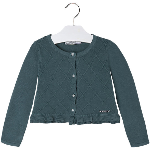 Купить Кардиган для девочки Mayoral, Китай, зеленый, 110, 98, 122, 116, 128, 104, 134, Женский