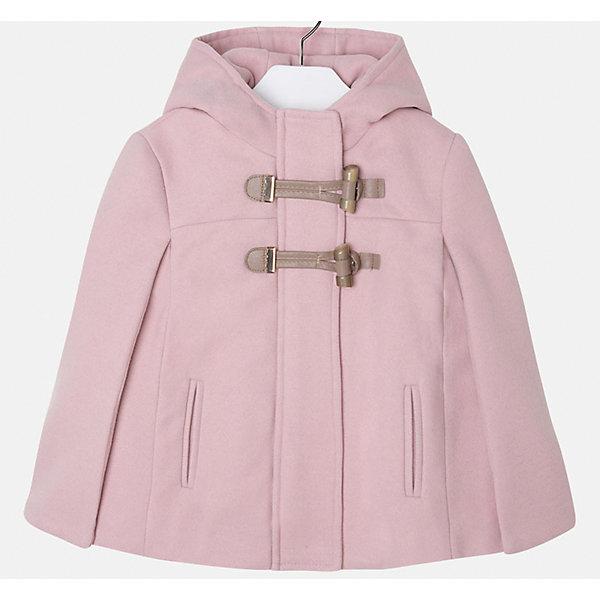 Пальто для девочки MayoralПальто и плащи<br>Пончо для девочки от известного испанского бренда Mayoral.  Модель изготовлена из качественных тканей. Есть капюшон и две крупные застежки-пуговицы спереди. Пончо нежного розового цвета прекрасно подойдет юной принцессе!<br>Дополнительная информация:<br>-2 крупных застежки-пуговицы<br>-капюшон<br>-цвет: розовый<br>-состав: 90% полиэстер, 8% вискоза, 2% эластан<br>Пончо Mayoral вы можете приобрести в нашем интернет-магазине.<br><br>Ширина мм: 199<br>Глубина мм: 10<br>Высота мм: 161<br>Вес г: 151<br>Цвет: розовый<br>Возраст от месяцев: 36<br>Возраст до месяцев: 48<br>Пол: Женский<br>Возраст: Детский<br>Размер: 104,98,122,116,134,128,110<br>SKU: 4846668