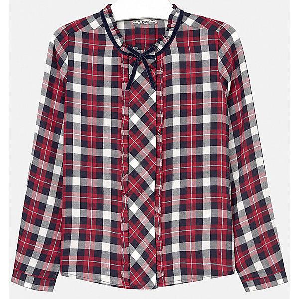 Блузка для девочки MayoralБлузки и рубашки<br>Блузка для девочки от популярного испанского бренда Mayoral(Майорал). Клетчатая блузка с длинным рукавом украшена рюшами и декоративным бантиком. Манжеты застегиваются на пуговицу. Идеальный вариант для повседневной носки.<br>Дополнительная информация:<br>-длинные рукава<br>-украшена рюшами и декоративным бантиком<br>-цвет: красный<br>-состав: 100% вискоза<br>Блузку Mayoral(Майорал) можно купить в нашем интернет-магазине.<br><br>Ширина мм: 186<br>Глубина мм: 87<br>Высота мм: 198<br>Вес г: 197<br>Цвет: красный<br>Возраст от месяцев: 96<br>Возраст до месяцев: 108<br>Пол: Женский<br>Возраст: Детский<br>Размер: 128/134,164/170,134/140,158/164,152/158,146/152<br>SKU: 4847110