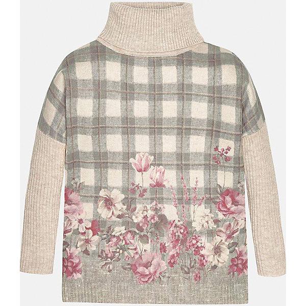 Свитер для девочки MayoralСвитера и кардиганы<br>Свитер для девочки от популярного испанского бренда Mayoral(Майорал). Модель с высоким воротом изготовлена из качественных дышащих материалов с контрастным дизайном. В таком свитере ребенку несомненно будет очень комфортно!<br>Дополнительная информация:<br>-контрастный дизайн<br>-высокий ворот<br>-цвет: бежевый<br>-состав: 75% акрил, 25% полиамид<br>Свитер Mayoral(Майорал) можно купить в нашем интернет-магазине.<br><br>Ширина мм: 190<br>Глубина мм: 74<br>Высота мм: 229<br>Вес г: 236<br>Цвет: бежевый<br>Возраст от месяцев: 96<br>Возраст до месяцев: 108<br>Пол: Женский<br>Возраст: Детский<br>Размер: 146/152,128/134,152/158,134/140,158/164,164/170<br>SKU: 4847126