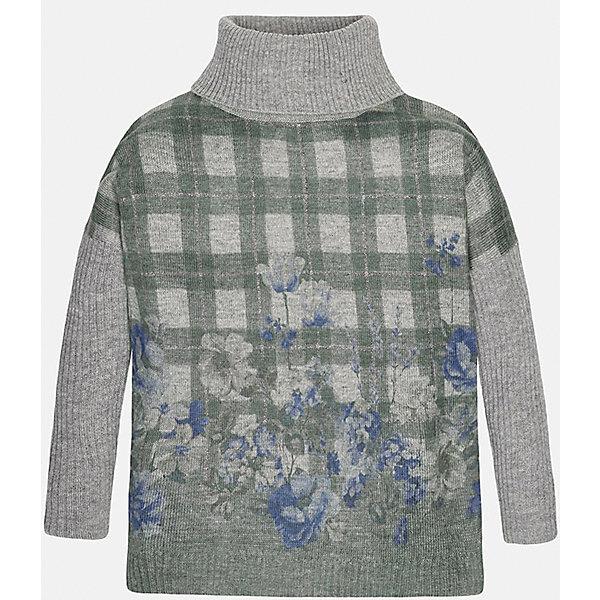 Свитер для девочки MayoralСвитера и кардиганы<br>Свитер для девочки от популярного испанского бренда Mayoral(Майорал). Модель с высоким воротом изготовлена из качественных дышащих материалов с контрастным дизайном. В таком свитере ребенку несомненно будет очень комфортно!<br>Дополнительная информация:<br>-контрастный дизайн<br>-высокий ворот<br>-цвет: зеленый/серый<br>-состав: 75% акрил, 25% полиамид<br>Свитер Mayoral(Майорал) можно купить в нашем интернет-магазине.<br>Ширина мм: 190; Глубина мм: 74; Высота мм: 229; Вес г: 236; Цвет: серый; Возраст от месяцев: 144; Возраст до месяцев: 156; Пол: Женский; Возраст: Детский; Размер: 152/158,158/164,128/134,134/140,146/152,170; SKU: 4847133;