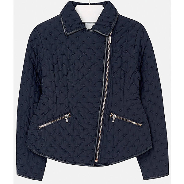 Куртка для девочки MayoralВерхняя одежда<br>Куртка для девочки от известного испанского бренда Mayoral(Майорал). Модель с приталенным силуэтом, застегивается на молнию, украшена вышивкой. Стильная куртка не даст девочке замерзнуть и подчеркнет элегантность образа.<br>Дополнительная информация:<br>-приталенный силуэт<br>-застегивается на молнию<br>-украшена вышивкой<br>-цвет: синий<br>-состав: 100% полиэстер<br>Куртку Mayoral(Майорал) вы можете купить в нашем интернет-магазине.<br>Ширина мм: 356; Глубина мм: 10; Высота мм: 245; Вес г: 519; Цвет: синий; Возраст от месяцев: 96; Возраст до месяцев: 108; Пол: Женский; Возраст: Детский; Размер: 128/134,164/170,146/152,158/164,152/158,134/140; SKU: 4847297;