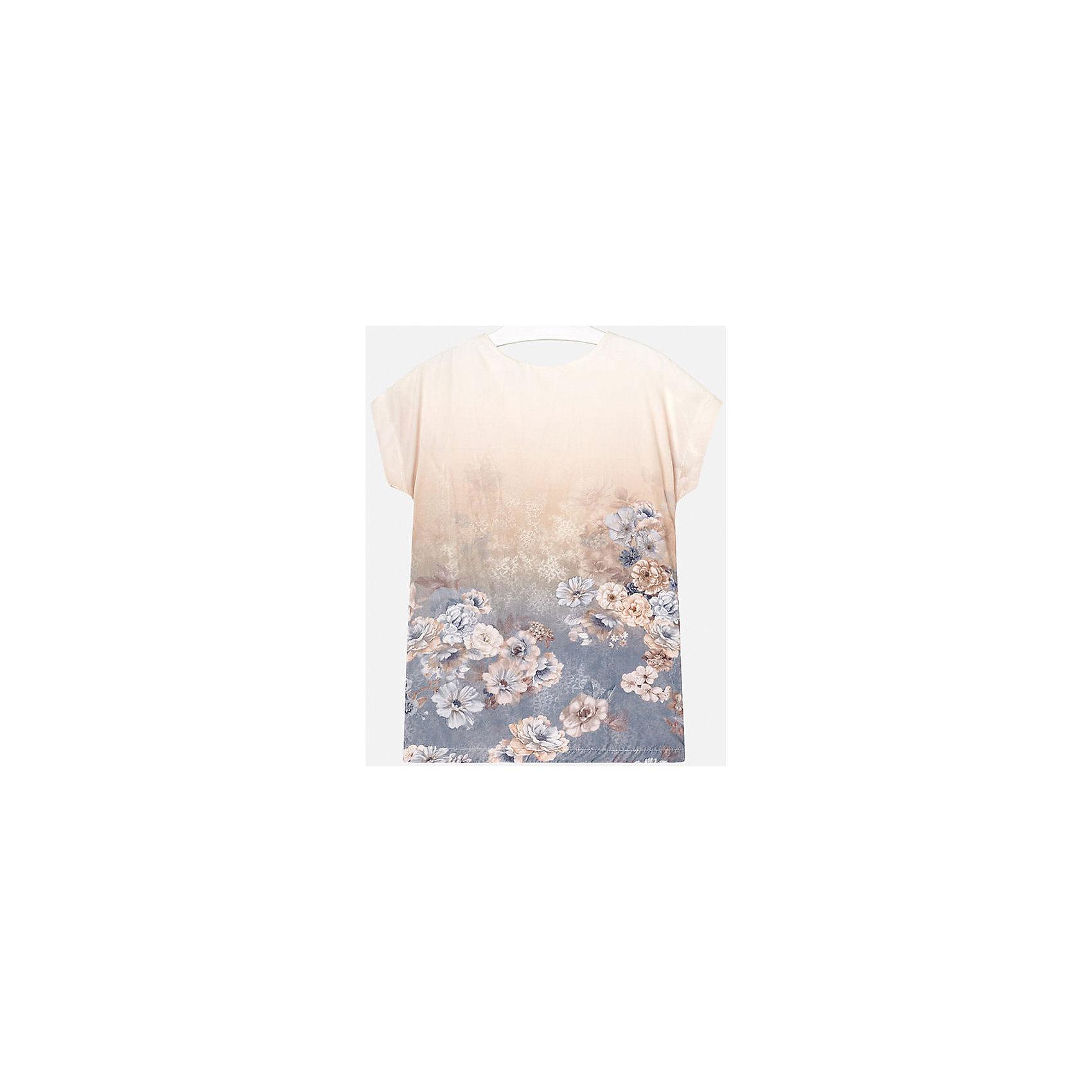 Платье для девочки MayoralПлатье для девочки Mayoral (Майорал) от известного испанского бренда Mayoral. Платье в стиле туники свободного кроя выполнено в пастельных нежных оттенках. У платья круглая горловина, короткий рукав, сзади имеется потайная молния. Фактура ткани приятная на ощупь. По низу платья выполнен цветочный принт. Подклад выполнен из 100% хлопка.<br><br>Дополнительная информация:<br><br>- Предназначение: повседневная одежда<br>- Цвет: кремовый<br>- Пол: для девочки<br>- Состав: 92% полиэстер, 8% эластан; подклад 100% хлопок<br>- Сезон: весна-лето<br>- Особенности ухода: стирка при температуре 30 градусов, глажение<br><br>Подробнее:<br><br>• Для детей в возрасте: от 8 лет и до 16 лет<br>• Страна производитель: Китай<br>• Торговый бренд: Mayoral<br><br>Платье для девочки Mayoral (Майорал) можно купить в нашем интернет-магазине.<br><br>Ширина мм: 236<br>Глубина мм: 16<br>Высота мм: 184<br>Вес г: 177<br>Цвет: бежевый<br>Возраст от месяцев: 156<br>Возраст до месяцев: 168<br>Пол: Женский<br>Возраст: Детский<br>Размер: 128/134,134/140,152/158,146/152,158/164,164/170<br>SKU: 4847535