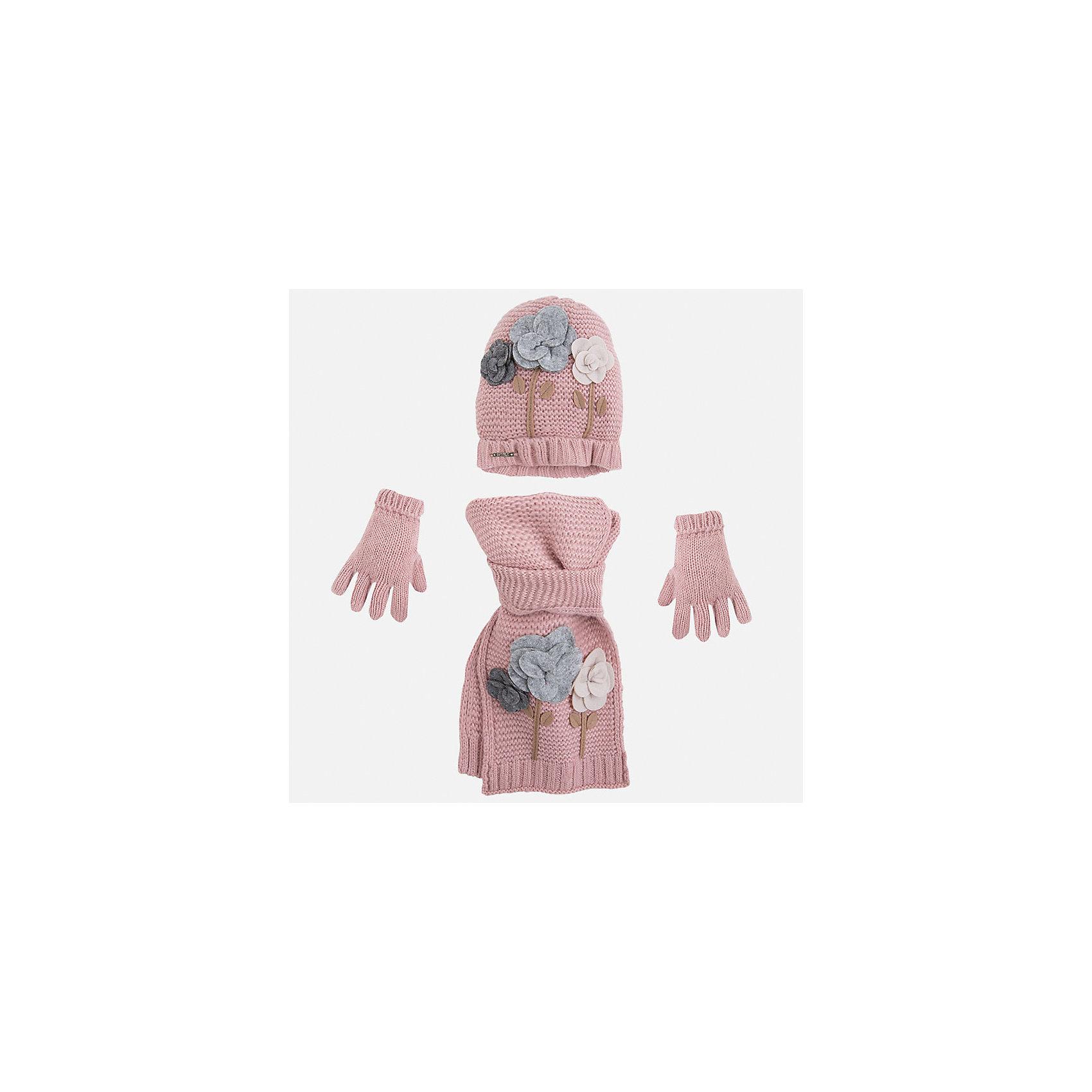 Mayoral Комплект:шапка, шарф и перчатки для девочки Mayoral шапки mialt шапка