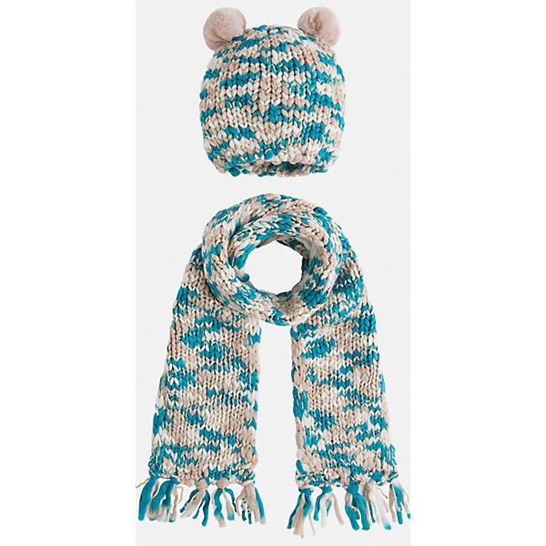 Комплект:шапка и шарф для девочки MayoralДемисезонные<br>Комплект: шапка и шарф для девочки Mayoral от известного испанского бренда Mayoral. Вязаный комплект выполнен из акриловой пряжи с добавлением люрексовой нити золотистого цвета. Комплект состоит из шапки и шарфа, связанных крупной вязкой. Шапка имеет классическую форму, сверху по бокам имеются небольшие помпоны из бежевой пряжи, по краям шарфа – кисти, выполненные из пряжи. <br><br>Дополнительная информация:<br><br>- Предназначение: повседневная одежда<br>- Комплектация: шапка, шарф<br>- Цвет: бежевый, белый, бирюзовый<br>- Пол: для девочки<br>- Состав: 90% акрил, 10% металлизированная нить<br>- Сезон: осень-зима-весна<br>- Особенности ухода: стирка при температуре 30 градусов, разрешается химическая чистка, глажение <br><br>Подробнее:<br><br>• Для детей в возрасте: от 2 лет и до 9 лет<br>• Страна производитель: Китай<br>• Торговый бренд: Mayoral<br><br>Комплект: шапка и шарф для девочки Mayoral (Майорал) можно купить в нашем интернет-магазине.<br>Ширина мм: 89; Глубина мм: 117; Высота мм: 44; Вес г: 155; Цвет: серый; Возраст от месяцев: 48; Возраст до месяцев: 72; Пол: Женский; Возраст: Детский; Размер: 52-54,48-50,54-56; SKU: 4847786;