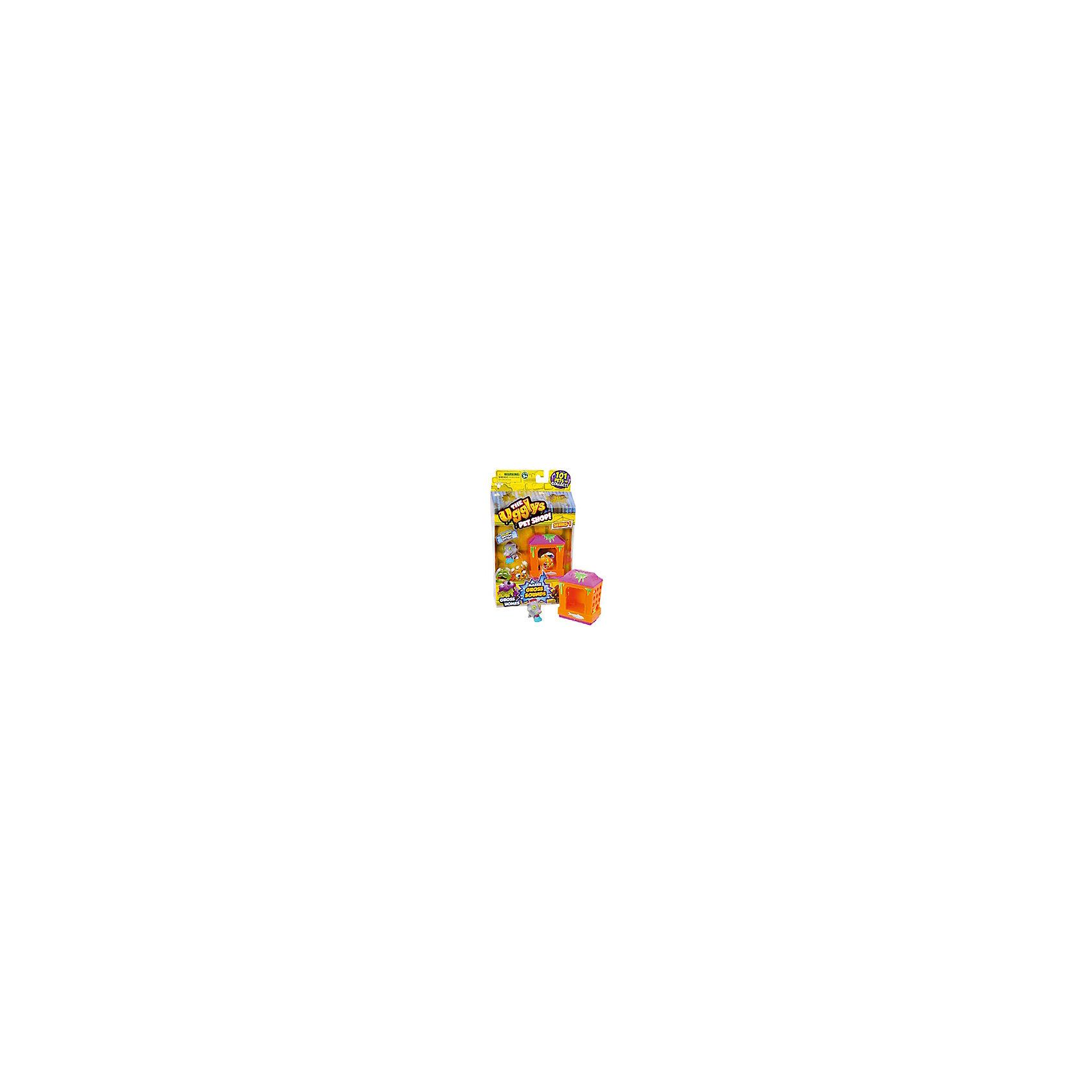 Набор Домик с фигуркой Mutt Hut, Ugglys Pet ShopНабор Домик с фигуркой, Ugglys Pet Shop – это настоящая находка для юной любительницы хулиганских питомцев.<br>Игровой набор из серии «Хулиганские животные» состоит из домика для питомца со звуковыми эффектами и уникальной фигурки питомца, которую нельзя найти в других упаковках и наборах серии. Яркий домик также неказист, как его обитатель, но может издавать преотвратительные звуки, если на него нажать. А если соединить несколько домиков вместе, то из них получится этакая шумная многоэтажная хрущоба для животных.<br><br>Дополнительная информация:<br><br>- В наборе: домик, уникальная фигурка<br>- Материал: высококачественная пластмасса, прорезиненный материал<br>- Батарейки: 2 батарейки LR44 (в комплект не входят)<br>- Размер упаковки: 140х230х50 мм.<br>- Вес: 189 гр.<br><br>Набор Домик с фигуркой, Ugglys Pet Shop можно купить в нашем интернет-магазине.<br><br>Ширина мм: 140<br>Глубина мм: 230<br>Высота мм: 50<br>Вес г: 189<br>Возраст от месяцев: 60<br>Возраст до месяцев: 144<br>Пол: Унисекс<br>Возраст: Детский<br>SKU: 4849997