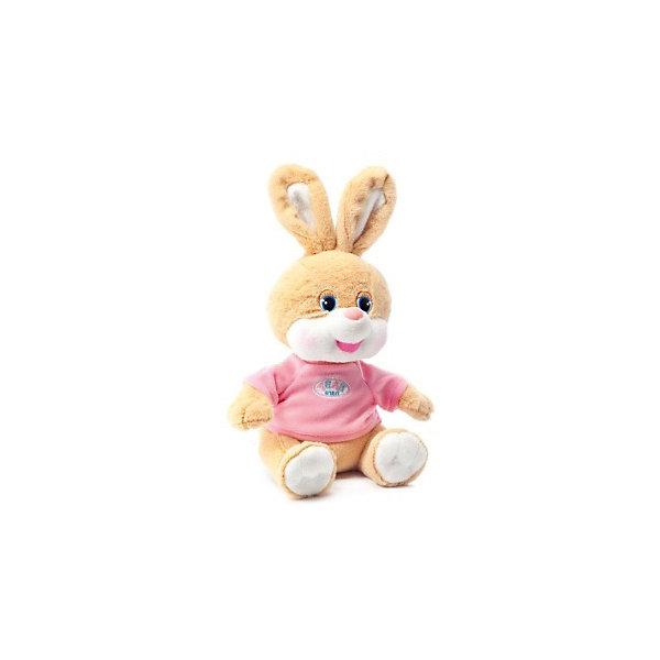 Зайчик Баффи, розовый, музыкальный, LAVAМузыкальные мягкие игрушки<br>Этот милый зайчик приведет в восторг любого ребенка! Зайку зовут Баффи, он очень мягкий, приятный на ощупь и умеет петь веселую песенку. Игрушка изготовлена из высококачественного материала, абсолютно безопасного для детей. <br><br>Дополнительная информация:<br><br>- Материал: искусственный мех, текстиль, синтепон, пластик.<br>- Высота: 22 см.<br>- Поет песенку (Щенок растёт...).<br>- Элемент питания: батарейка (в комплекте).<br><br>Зайчика Баффи, музыкального, 22 см., LAVA (ЛАВА) можно купить в нашем магазине.<br>Ширина мм: 150; Глубина мм: 150; Высота мм: 220; Вес г: 224; Возраст от месяцев: 36; Возраст до месяцев: 1188; Пол: Унисекс; Возраст: Детский; SKU: 4850045;