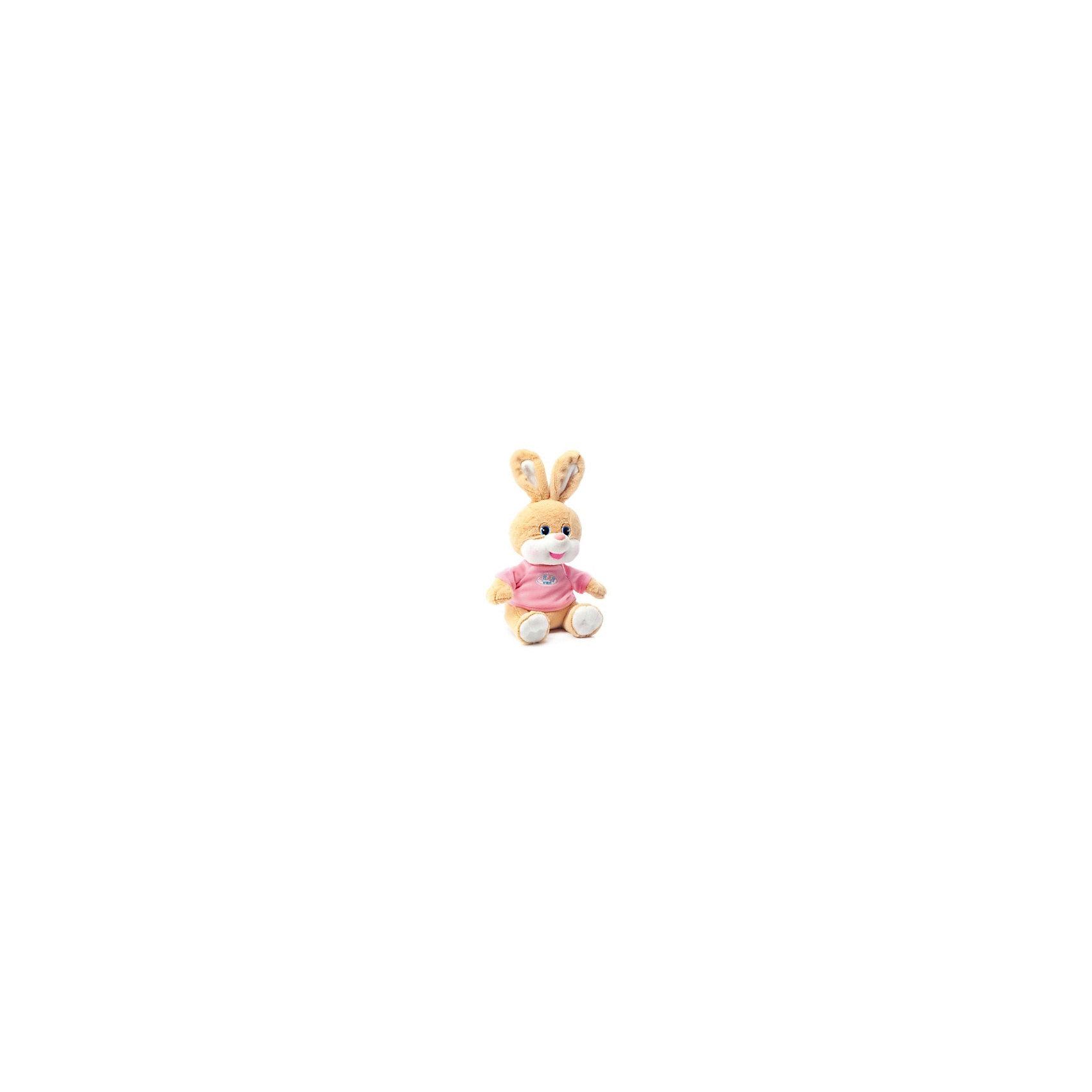 Зайчик Баффи, розовый, музыкальный, LAVAОзвученные мягкие игрушки<br>Этот милый зайчик приведет в восторг любого ребенка! Зайку зовут Баффи, он очень мягкий, приятный на ощупь и умеет петь веселую песенку. Игрушка изготовлена из высококачественного материала, абсолютно безопасного для детей. <br><br>Дополнительная информация:<br><br>- Материал: искусственный мех, текстиль, синтепон, пластик.<br>- Высота: 22 см.<br>- Поет песенку (Щенок растёт...).<br>- Элемент питания: батарейка (в комплекте).<br><br>Зайчика Баффи, музыкального, 22 см., LAVA (ЛАВА) можно купить в нашем магазине.<br><br>Ширина мм: 150<br>Глубина мм: 150<br>Высота мм: 220<br>Вес г: 224<br>Возраст от месяцев: 36<br>Возраст до месяцев: 1188<br>Пол: Унисекс<br>Возраст: Детский<br>SKU: 4850045