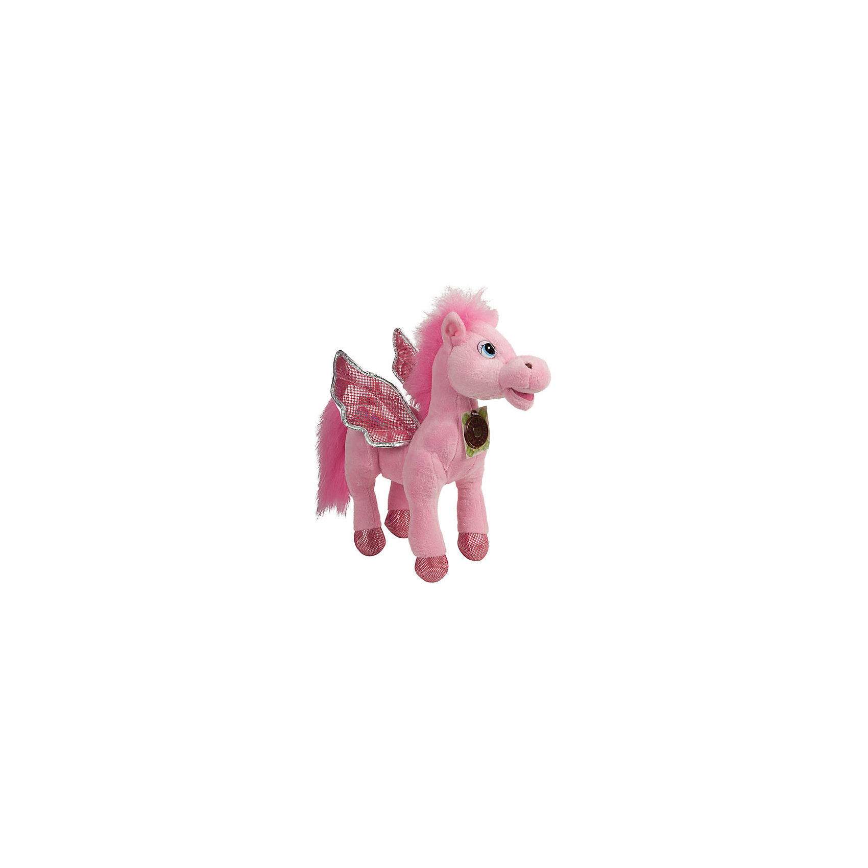 Мягкая игрушка Пони с крыльями, розовая, МУЛЬТИ-ПУЛЬТИОчаровательная мягкая лошадка с крылышками обязательно понравится девочке! Пони расскажет своей хозяйке веселые стихи, споет песенку или просто поговорит. Игрушка выполнена из высококачественных материалов, плотно набита, очень приятна на ощупь. <br><br>Дополнительная информация: <br><br>- Материал: пластик, текстиль, синтепон.<br>- Размер: 25 см.<br>- 3 фразы, 4 стишка, 2 песенки.<br>- Элемент питания: батарейки (в комплекте).<br><br>Мягкую игрушку Пони с крыльями, МУЛЬТИ-ПУЛЬТИ можно купить в нашем магазине.<br><br>Ширина мм: 300<br>Глубина мм: 260<br>Высота мм: 100<br>Вес г: 420<br>Возраст от месяцев: 36<br>Возраст до месяцев: 120<br>Пол: Женский<br>Возраст: Детский<br>SKU: 4850049
