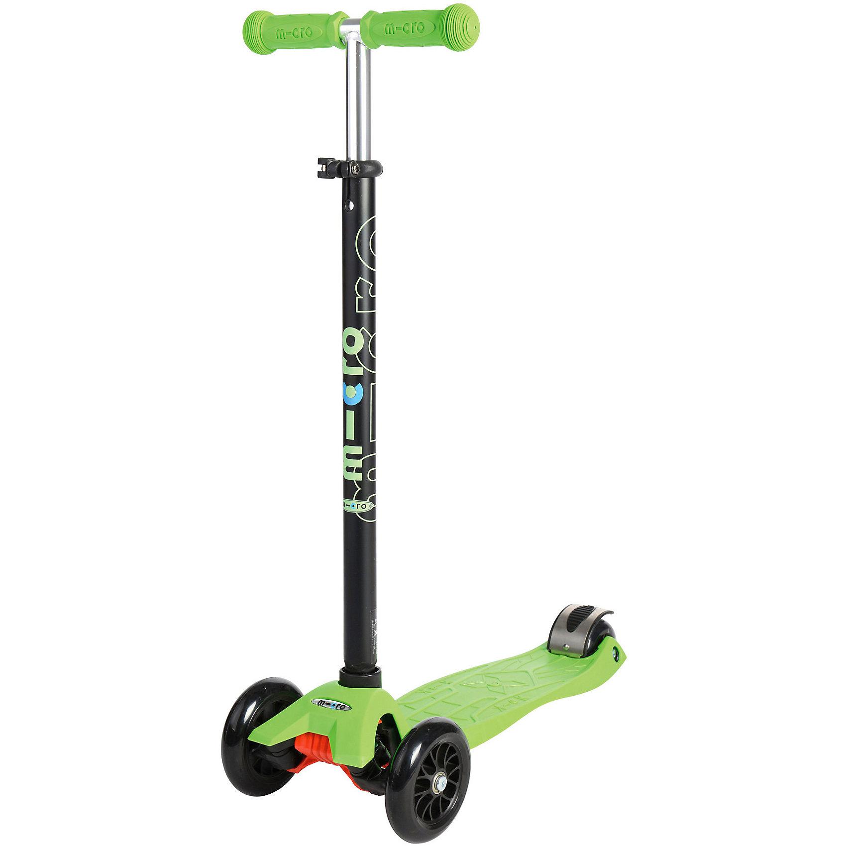 - Самокат, Micro Maxi Micro T, зеленый самокат micro maxi t коралловый розовый
