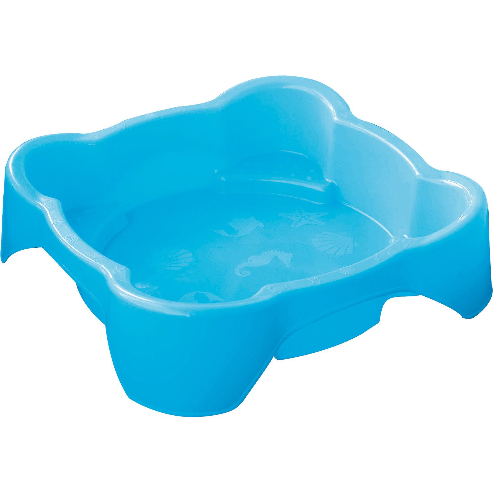 Песочница квадратная, голубая, Marianplast