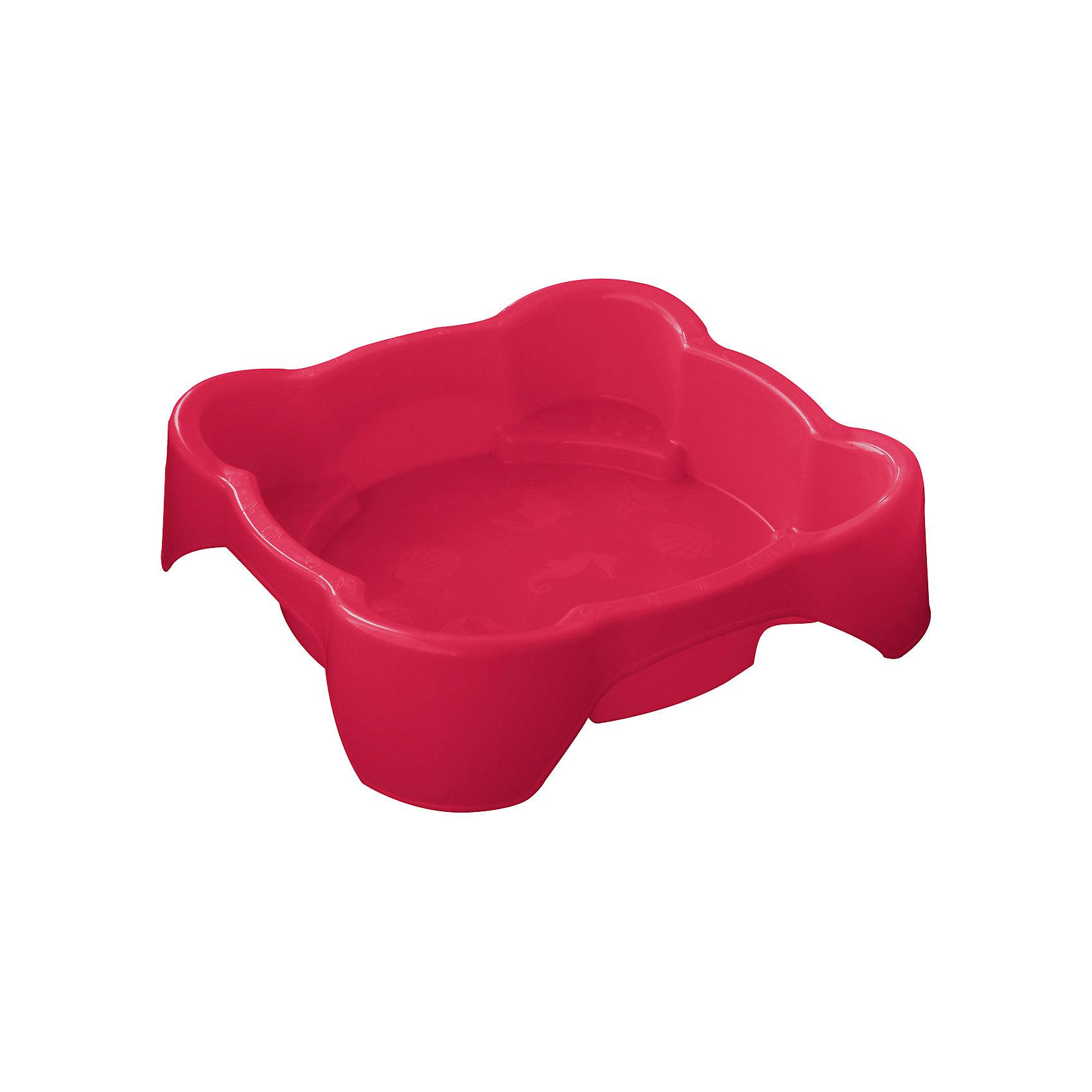 Песочница квадратная, красная, Marianplast
