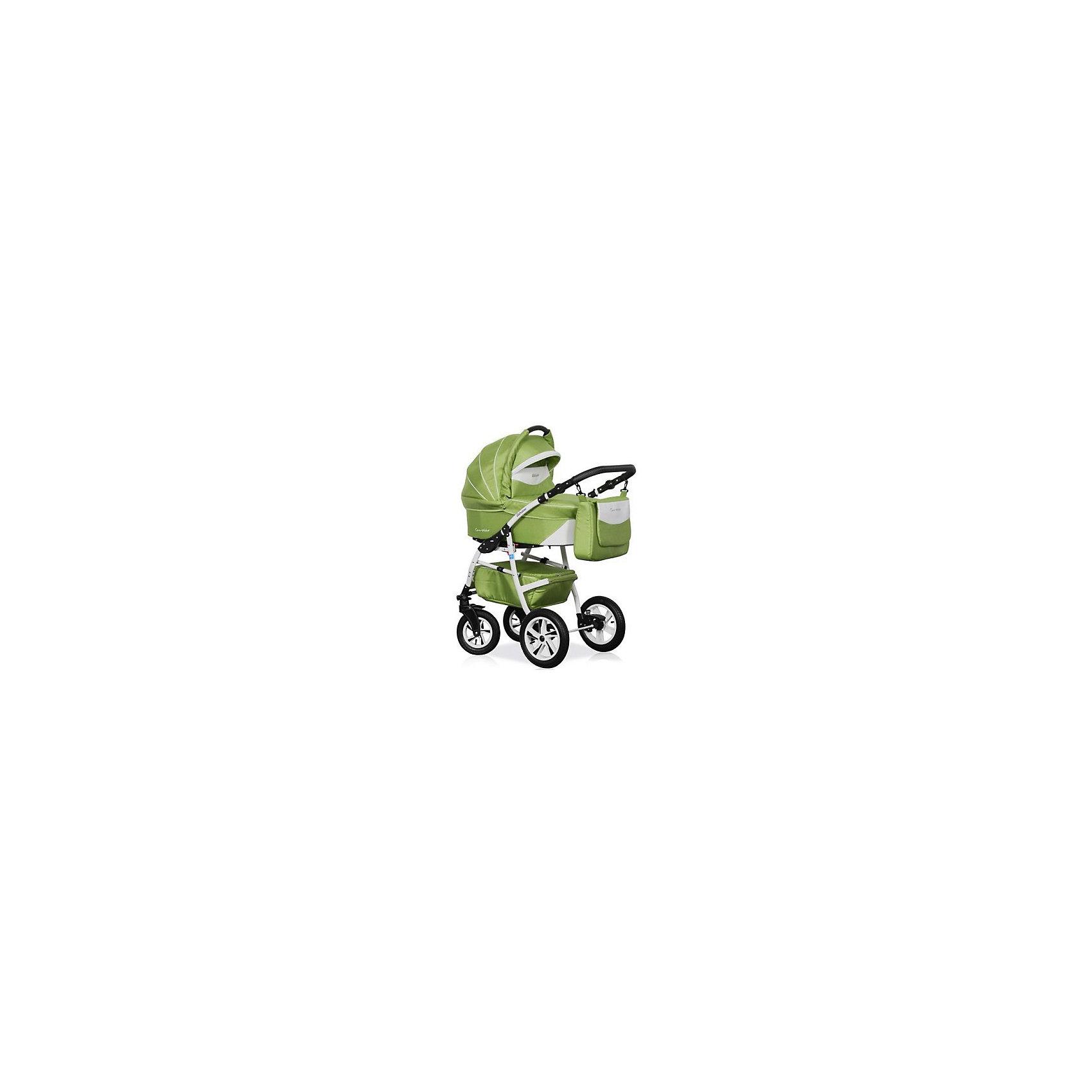 Коляска 2 в 1 Adriano, Caretto, салатовыйКоляска 2 в 1 Adriano, Caretto (Каретто), бронзовый – эта новая, многофункциональная модель детской коляски, предназначенная для детей с рождения и до 3-х лет. Все элементы и детали коляски изготовлены из экологически безопасных материалов. Защита вашего малыша от травм и падений будет обеспечена самыми современными ремнями безопасности. Люлька отличается большим коробом, поэтому даже крупному малышу в ней будет удобно и комфортно.<br>Коляска Caretto Adriano 2 в 1 универсальна в своем использовании: внутренняя обивка выполнена из тонкого хлопкового полотна, что позволяет создавать и поддерживать комфортную температуру в любое время года: зимой она защитит малыша от ветра и снега, летом ? от жары, солнца или дождя. Все текстильные элементы легко очищаются от загрязнений.<br>Cтиль коляски Caretto Adriano 2 в 1 отвечает современным модным тенденциям: яркость расцветок сочетается с изящными дополнительными деталями и аксессуарами.<br>Коляска Каретто 2 в 1 ? это комфорт для малыша и удобство для мамы.<br><br>Дополнительная информация:<br><br>- Механизм складывания: книжка<br>- Цвет: салатовый<br>- Сезон: зима-лето<br>- Комплектация: прогулочный блок, шасси, люлька, сумка для мамы, накидка на ножки, москитная сетка, дождевик, матрасик в люльку<br>- Ширина шасси: 61 см<br>- Диаметр колес: передние – 24 см, задние, надувные – 29 см<br>- Ручка: регулируемая, 4 положения<br>- Размер люльки (ДxШ): 77х35<br>- Размер (ДxВхШ): 90х56х62 см<br>- Материал: плотная водоотталкивающая ткань (внешняя обивка), тонкая хлопковая ткань (внутренняя обивка)<br>- Вес 24,0 кг<br><br>Подробнее:<br><br>- Для детей в возрасте: от 0 месяцев до 3 лет<br><br>Страна производитель: Польша<br><br>Коляску 2 в 1 Adriano, Caretto, салатовый можно купить в нашем интернет-магазине.<br><br>Ширина мм: 900<br>Глубина мм: 620<br>Высота мм: 560<br>Вес г: 24000<br>Возраст от месяцев: 0<br>Возраст до месяцев: 36<br>Пол: Унисекс<br>Возраст: Детский<br>SKU: 4855044