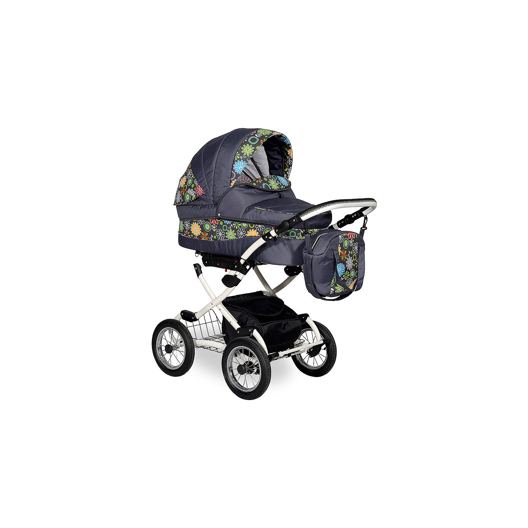 Коляска 2 в 1 Blues PC Indigo, серыйКоляска 2 в 1 Blues PC Indigo, серый – относится к категории современной классики. Данная модель предназначена для детей с самого рождения и до трех лет. Классические детали и современные качественные и безопасные материалы отличают эту коляску среди аналогичных моделей. Помповые колеса обеспечивают плавное движение коляски даже по самым неровным дорогам и тротуарам.<br>Люлька в коляске 2 в 1 Индиго Блюс оснащена регулируемым подголовником, имеется 2 капюшона, один из которых съемный, второй легкий, хорошо пропускает воздух, но при этом защищает от насекомых. Прогулочный вариант этой коляски обеспечен ремнями безопасности, подъемной металлической подножкой и съемным поручнем, обтянутым тканевым материалом.<br>Коляска 2 в 1 Blues PC Indigo, серый – это высокое качество по доступной цене.<br><br>Дополнительная информация:<br><br>- Механизм складывания: книжка<br>- Цвет: зеленый/серый<br>- Сезон: зима-лето<br>- Комплектация: сумка для мамы, матрасик в люльку, накидка на ножки<br>- Ширина шасси: 58 см<br>- Диаметр колес: 30,5 см<br>- Ручка: 4 положения<br>- Размер люльки (ДxШ): 80х35<br>- Размер (ДxВхШ): 93х53х60 см<br>- Материал: ткань, устойчивая к низким температурам и воздействия яркого солнечного цвета. Обладает водоотталкивающими свойствами.<br>- Вес 21,0 кг<br><br>Подробнее:<br><br>- Для детей в возрасте: от 0 месяцев до 3 лет<br><br>Страна производитель: Польша<br><br>Коляску 2 в 1 Blues PC Indigo, серый можно купить в нашем интернет-магазине.<br><br>Ширина мм: 930<br>Глубина мм: 600<br>Высота мм: 530<br>Вес г: 21000<br>Возраст от месяцев: 0<br>Возраст до месяцев: 36<br>Пол: Унисекс<br>Возраст: Детский<br>SKU: 4855050