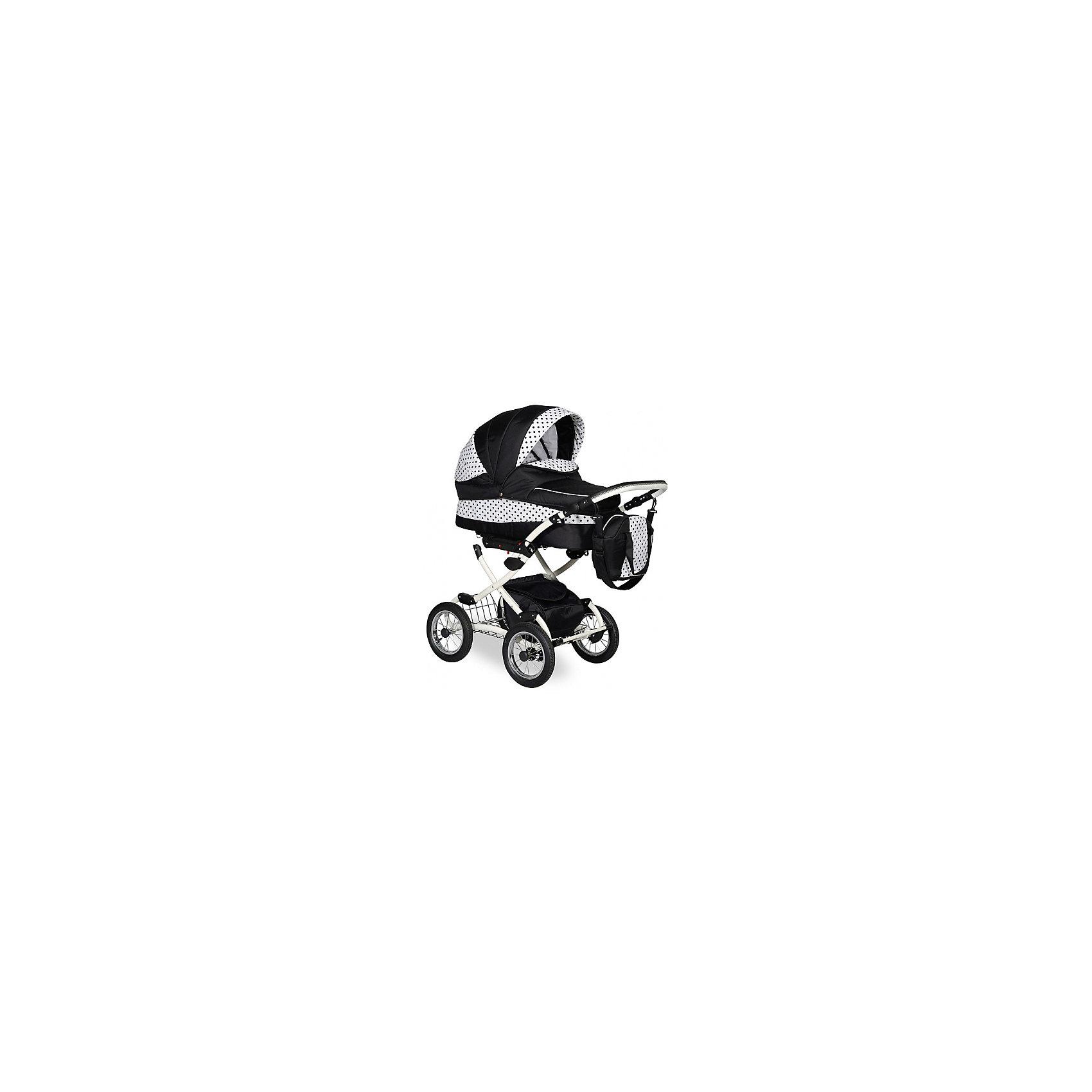 Коляска 2 в 1 Indigo Blues PC , черный/белыйКоляски 2 в 1<br>Коляска 2 в 1 Blues PC Indigo, черный/белый – относится к категории современной классики. Данная модель предназначена для детей с самого рождения и до трех лет. Классические детали и современные качественные и безопасные материалы отличают эту коляску среди аналогичных моделей. Помповые колеса обеспечивают плавное движение коляски даже по самым неровным дорогам и тротуарам.<br>Люлька в коляске 2 в 1 Индиго Блюс оснащена регулируемым подголовником, имеется 2 капюшона, один из которых съемный, второй легкий, хорошо пропускает воздух, но при этом защищает от насекомых. Прогулочный вариант этой коляски обеспечен ремнями безопасности, подъемной металлической подножкой и съемным поручнем, обтянутым тканевым материалом.<br>Коляска 2 в 1 Blues PC Indigo, черный/белый – это высокое качество по доступной цене.<br><br>Дополнительная информация:<br><br>- Механизм складывания: книжка<br>- Цвет: черный/белый<br>- Сезон: зима-лето<br>- Комплектация: сумка для мамы, матрасик в люльку, накидка на ножки<br>- Ширина шасси: 58 см<br>- Диаметр колес: 30,5 см<br>- Ручка: 4 положения<br>- Размер люльки (ДxШ): 80х35<br>- Размер (ДxВхШ): 93х53х60 см<br>- Материал: ткань, устойчивая к низким температурам и воздействия яркого солнечного цвета. Обладает водоотталкивающими свойствами.<br>- Вес 21,0 кг<br><br>Подробнее:<br><br>- Для детей в возрасте: от 0 месяцев до 3 лет<br><br>Страна производитель: Польша<br><br>Коляску 2 в 1 Blues PC Indigo, черный/белый можно купить в нашем интернет-магазине.<br><br>Ширина мм: 930<br>Глубина мм: 600<br>Высота мм: 530<br>Вес г: 21000<br>Возраст от месяцев: 0<br>Возраст до месяцев: 36<br>Пол: Унисекс<br>Возраст: Детский<br>SKU: 4855051