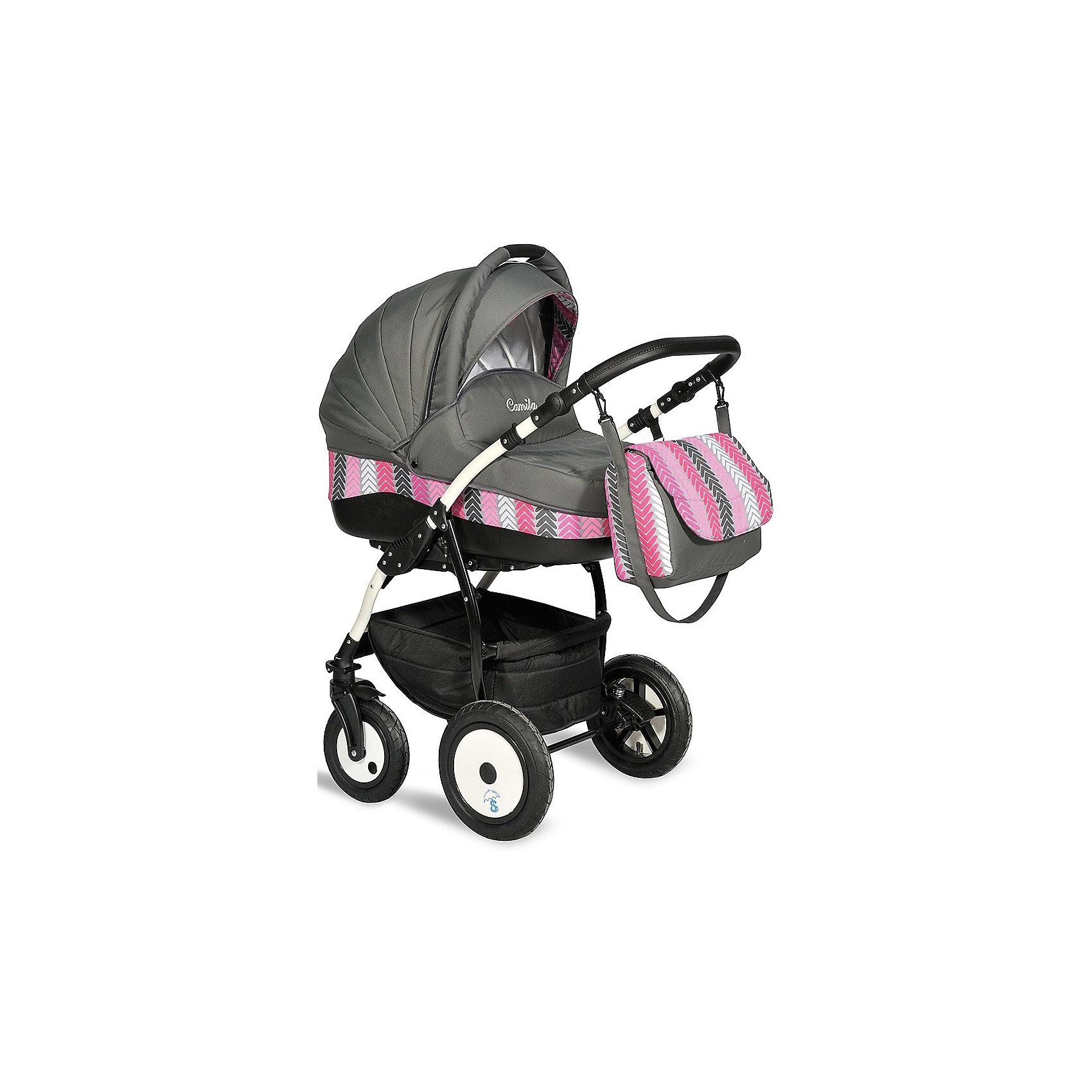 INDIGO Коляска 2 в 1 Camila, Indigo, графитовый универсальная коляска indigo s 2 в 1 кожа 17 white grey