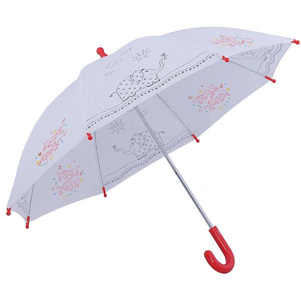 Зонт для раскрашивания, детский, ZestЗонты детские<br>Характеристики товара:<br><br>• диаметр раскрытого купола: 90 см<br>• длина сложенного зонта: 68 см.<br>• количество спиц: 8<br>• материал ручки: Пластик<br>• материал купола: Полиэстер<br>• материал каркаса: Сталь, стекловолокно<br>• в комплекте 5 фломастеров: желтый, зеленый, красный, коричневый, синий.<br><br>Зонт Zest - это объемная раскраска, которая станет отличным аксессуаром в дождливую погоду. <br><br>Разноцветные фломастеры идут в комплекте и позволят сделать зонтик ярким и красочным. <br><br>Механическая система удобнаа в использовании. <br><br>Спицы защищены специальными клипсами.<br><br>Зонт для раскрашивания, детский можно купить в нашем интернет-магазине.<br>Ширина мм: 10; Глубина мм: 10; Высота мм: 610; Вес г: 280; Возраст от месяцев: 36; Возраст до месяцев: 84; Пол: Унисекс; Возраст: Детский; SKU: 4857521;