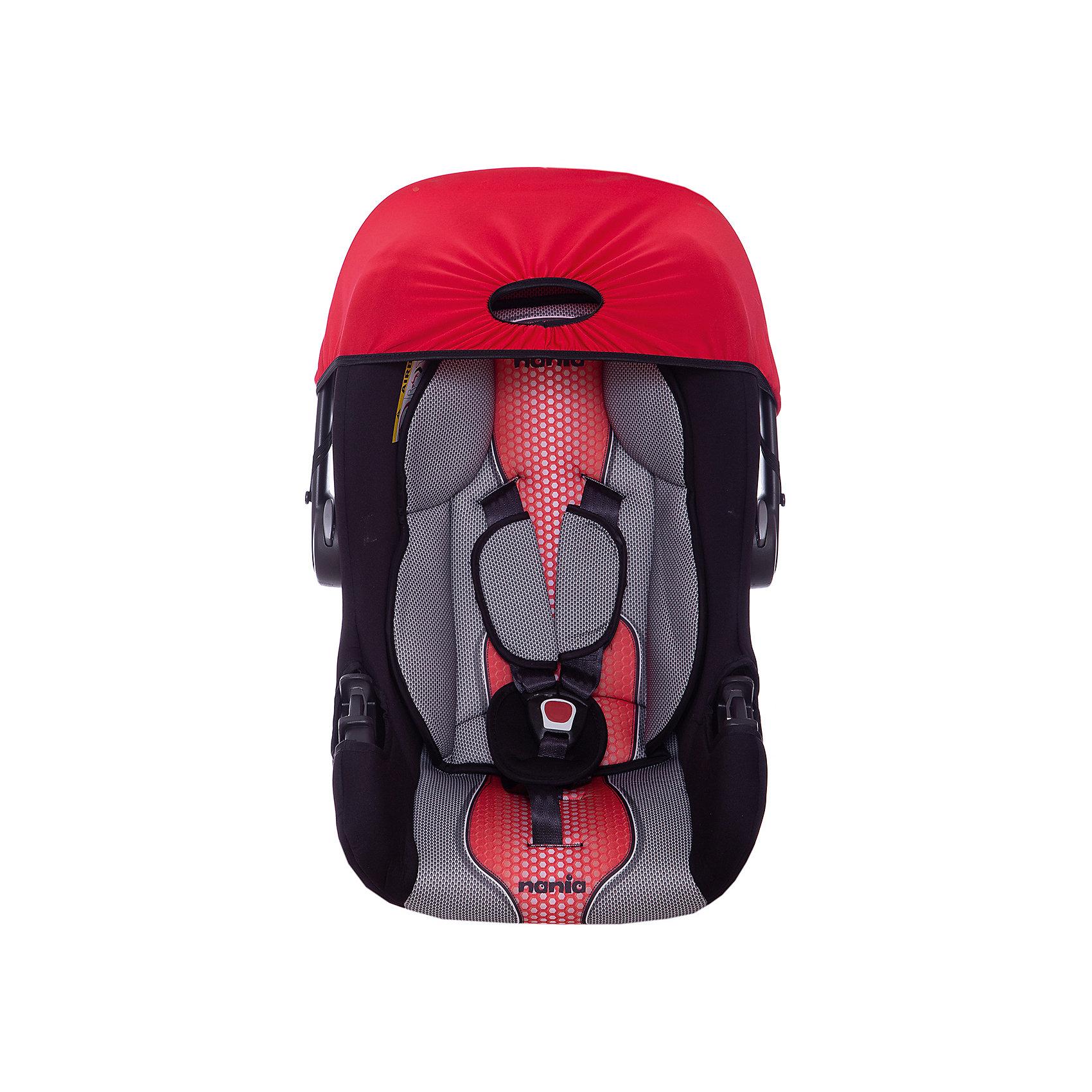 Автокресло Nania Beone SP FST 0-13 кг, pop redГруппа 0+ (До 13 кг)<br>Качественное высокотехнологичное автокресло Beone SP FST от Nania позволит перевозить ребенка, не беспокоясь при этом о его безопасности. Оно предназначено для детей весом от 0 до 13 килограмм. Такое кресло обеспечит малышу не только безопасность, но и комфорт. Прочный каркас анатомической формы сделан из полипропилена. Поглощающая силу удара прослойка произведена из полистирола. Есть 5точечные ремни безопасности с тремя уровнями регулировки по высоте и мягкими плечевыми накладками.<br>Автокресло устанавливают против хода движения. Есть улучшенный вкладыш и ручка для переноски ребенка. Такое кресло дает возможность свободно путешествовать, ездить в гости и при этом  быть рядом с малышом. Конструкция - очень удобная и прочная. Изделие произведено из качественных и безопасных для малышей материалов, оно соответствуют всем современным требованиям безопасности. Дополнено съемным чехлом, который можно стирать. Соответствует Европейскому Стандарту Безопасности ECE R44/03.<br> <br>Дополнительная информация:<br><br>цвет: серый, черный, красный;<br>материал: текстиль, пластик;<br>вес ребенка:  0 до 13 кг;<br>вес кресла: 7,69 кг;<br>ручка для переноски;<br>регулироемые 5точечные ремни безопасности;<br>съемный чехол.<br><br>Автокресло Beone SP FST 0-13 кг., от компании Nania можно купить в нашем магазине.<br><br>Ширина мм: 390<br>Глубина мм: 720<br>Высота мм: 400<br>Вес г: 7690<br>Возраст от месяцев: 0<br>Возраст до месяцев: 12<br>Пол: Унисекс<br>Возраст: Детский<br>SKU: 4860505